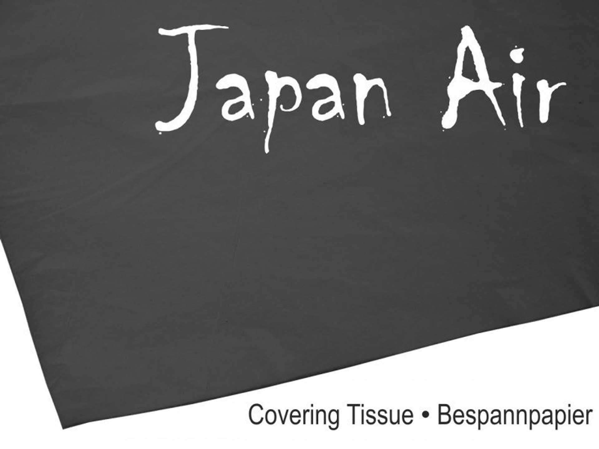 MODELLBAU LINDINGER JAPAN AIR Bespannpapier 16g schwarz 500 x 750 mm 10Stk. gerollt