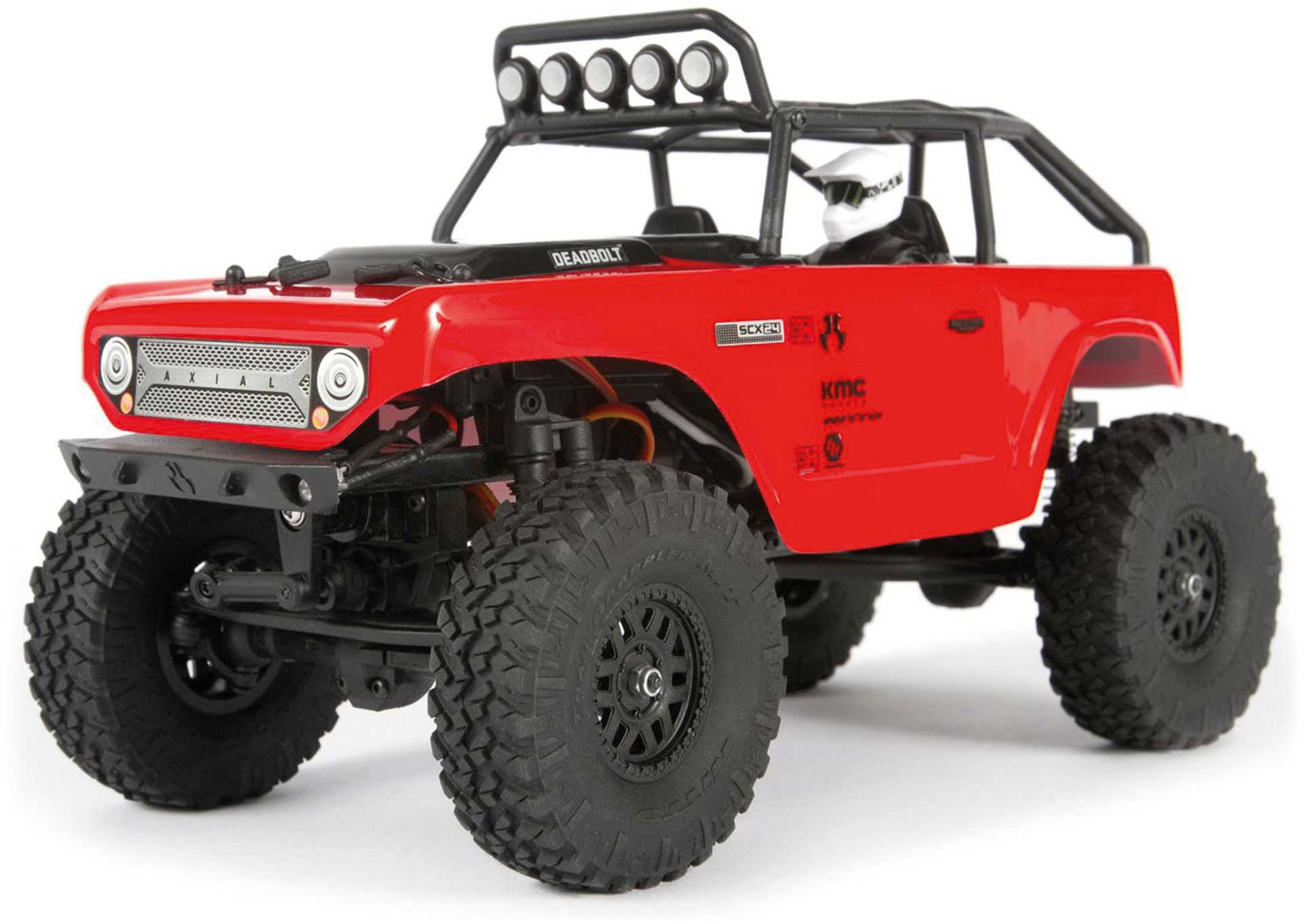 AXIAL SCX24 Deadbolt 1/24 Scale 4WD Red RTR