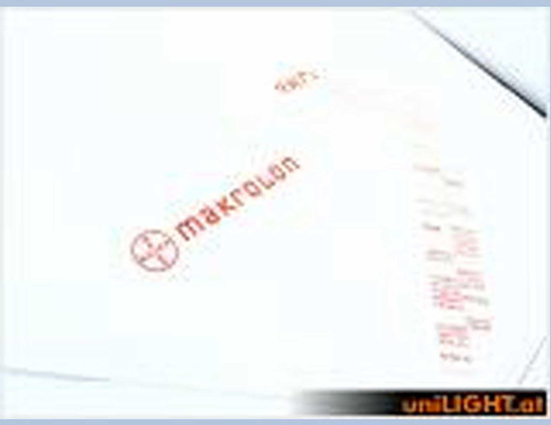 UNILIGHT Makrolon zum Tiefziehen 1.0mm