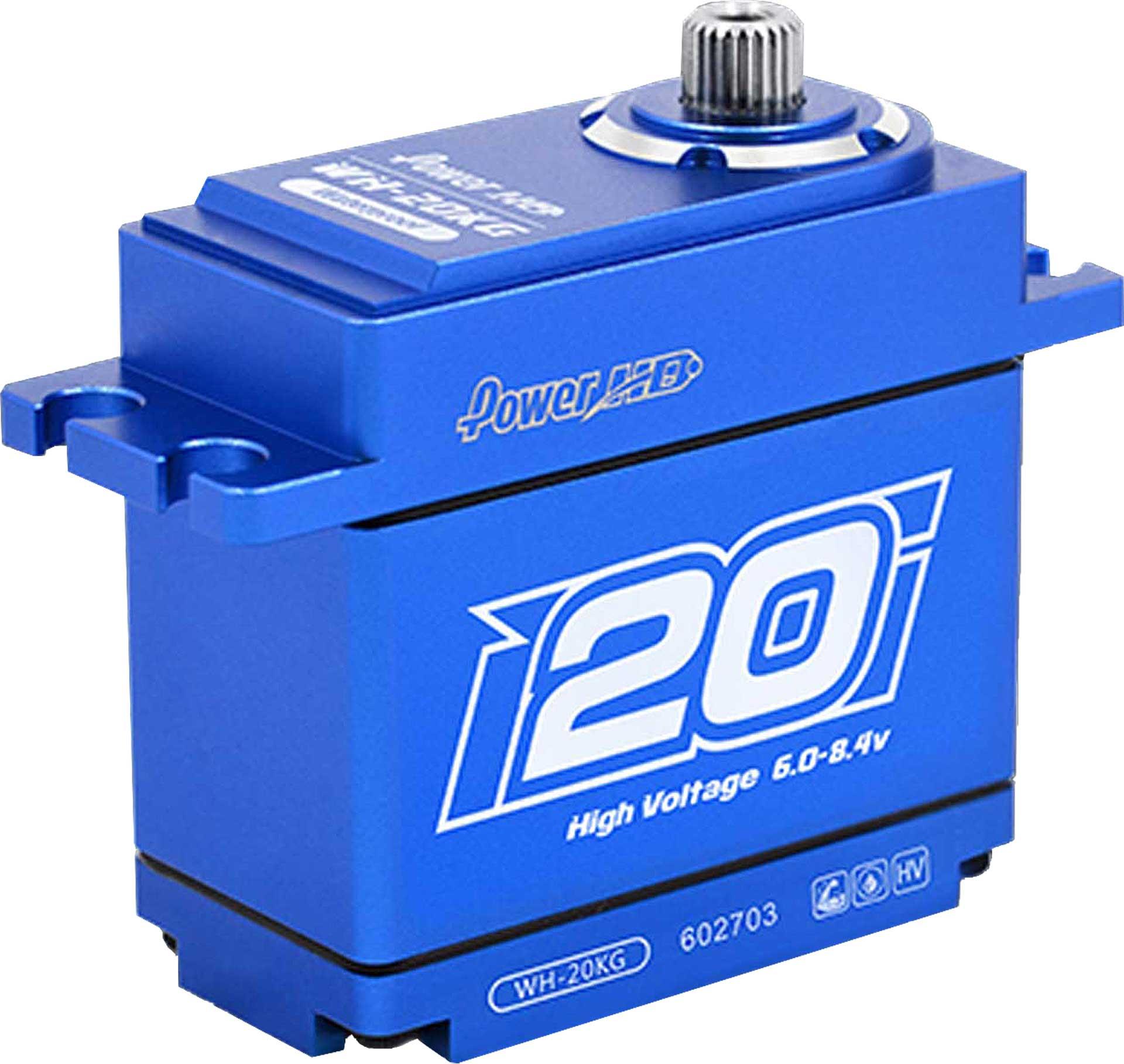 POWER HD WH-20 20kg HV wasserdicht Stahl/Aluminium Getriebe Coreless Motor Metallgehäuse doppelt kugelgelagert Digital Servo