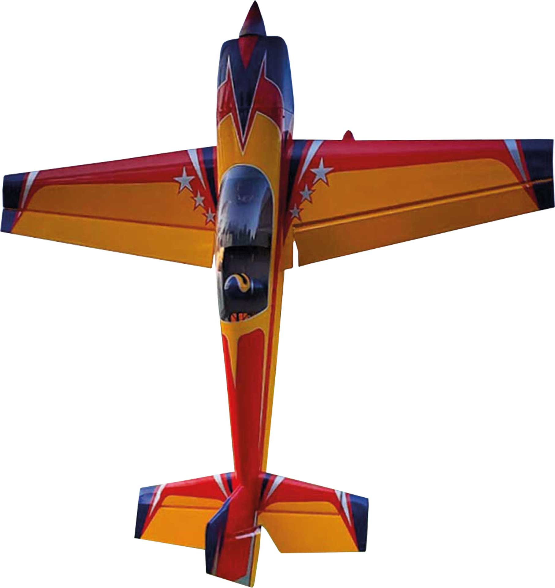 "EXTREMEFLIGHT-RC EXTRA 300 104"" ROT/GELB/BLAU"