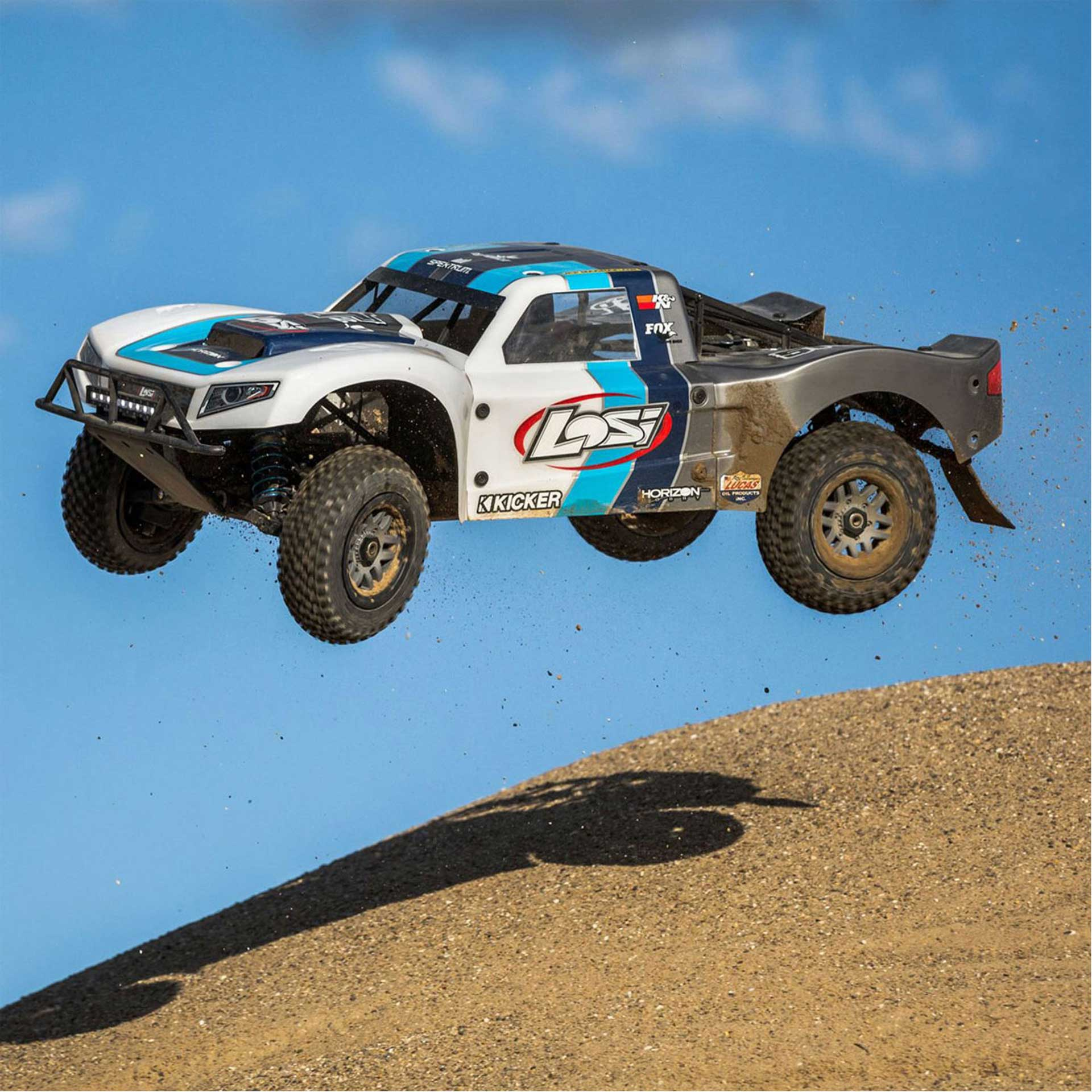 LOSI 1/5 5IVE-T 2.0 4WD SCT GAS BND GREY/BLUE/WHITE