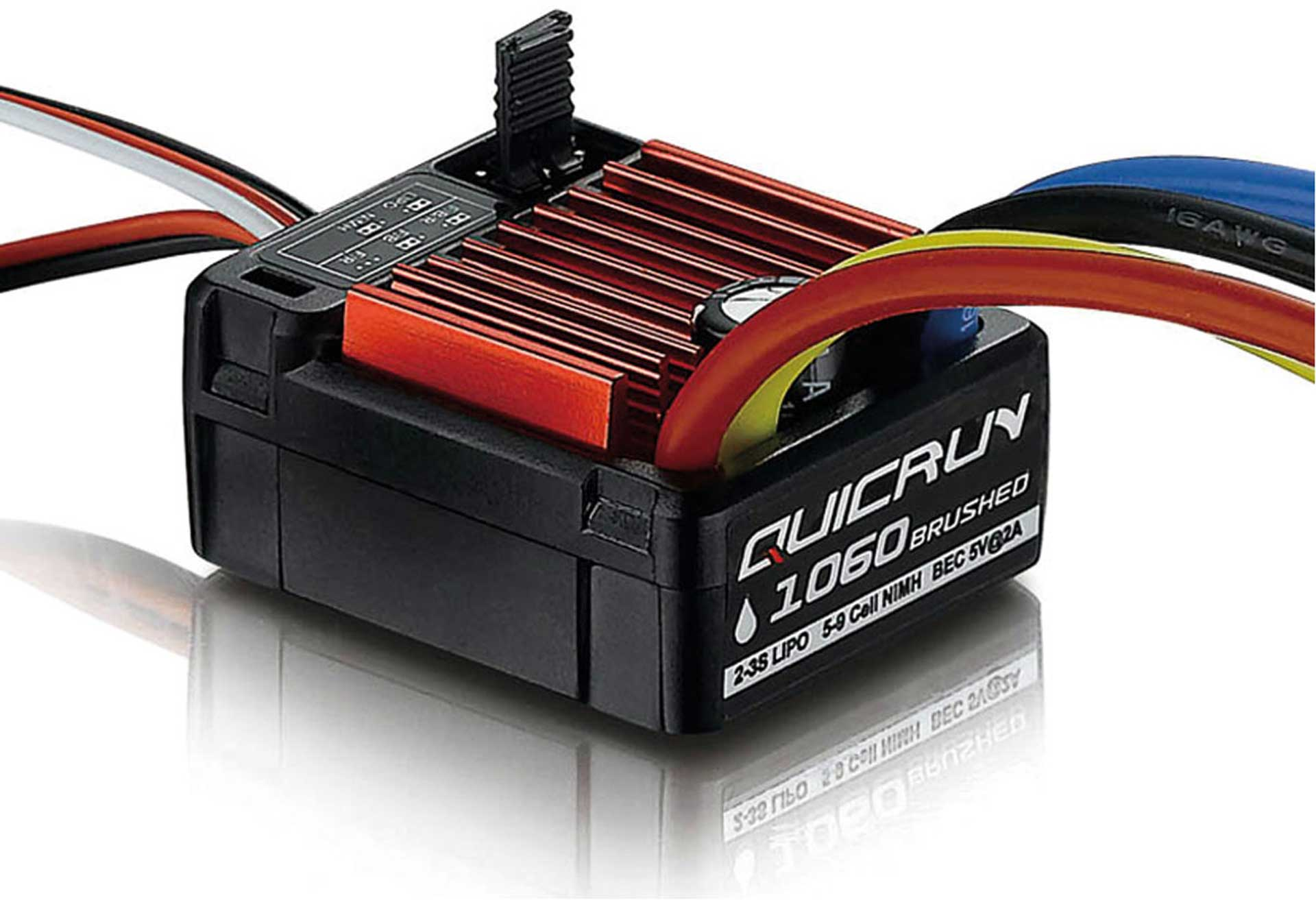 HOBBYWING SPEED CONTROLL QUICRUN WP1060 BRUSHED 60A 2-3S LIPO SBEC 1/10