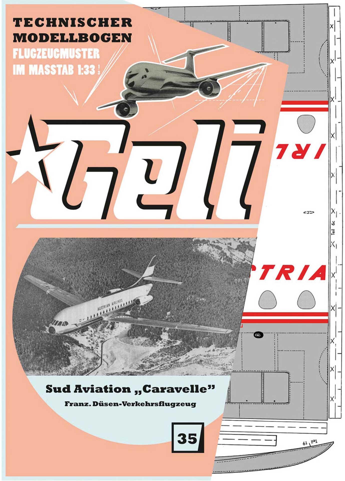 """GELI """"Caravelle"""" # 35 KARTONMODELL"""