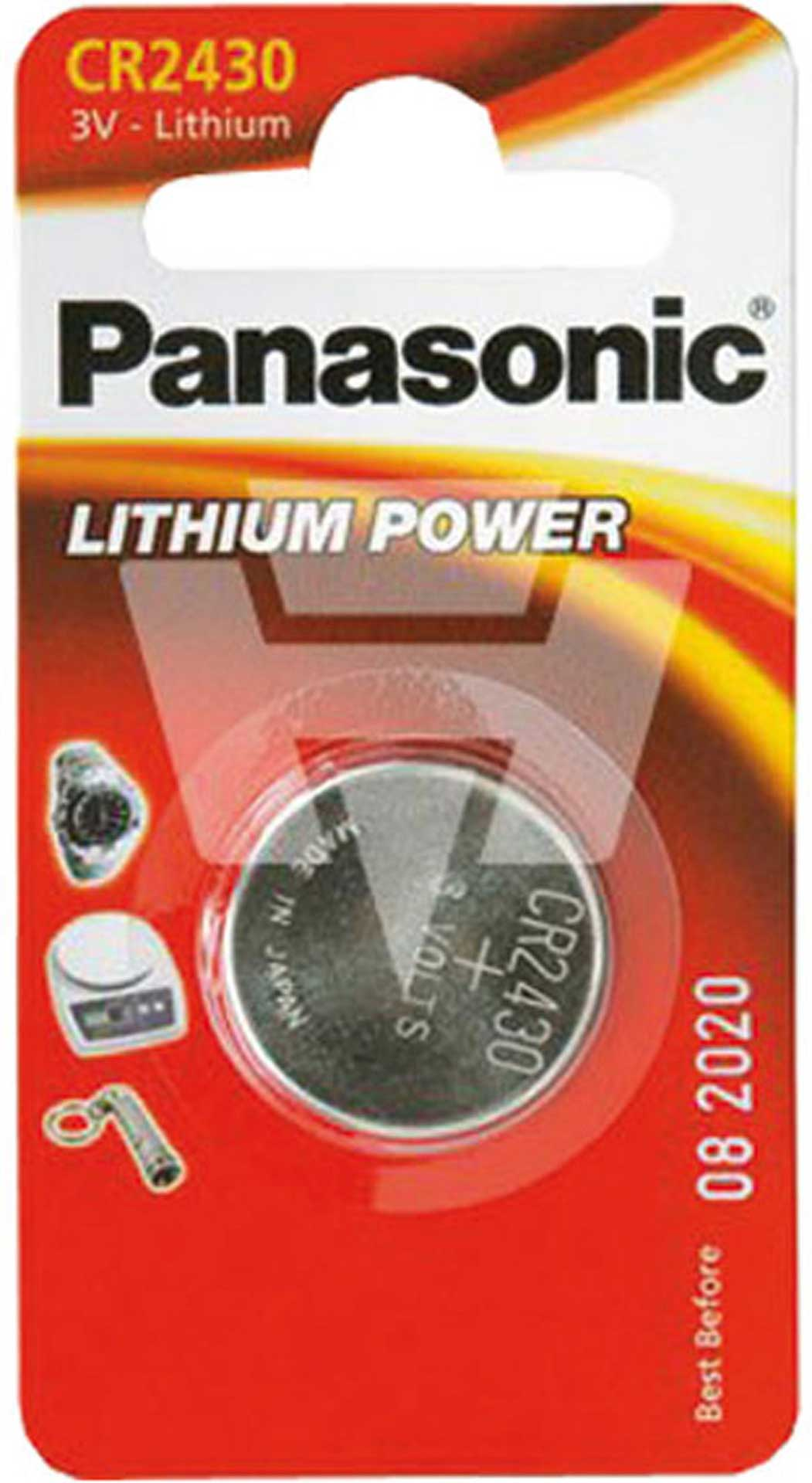 PANASONIC LITHIUM BUTTON CELL BATTERY CR2430 3V 1 PCS