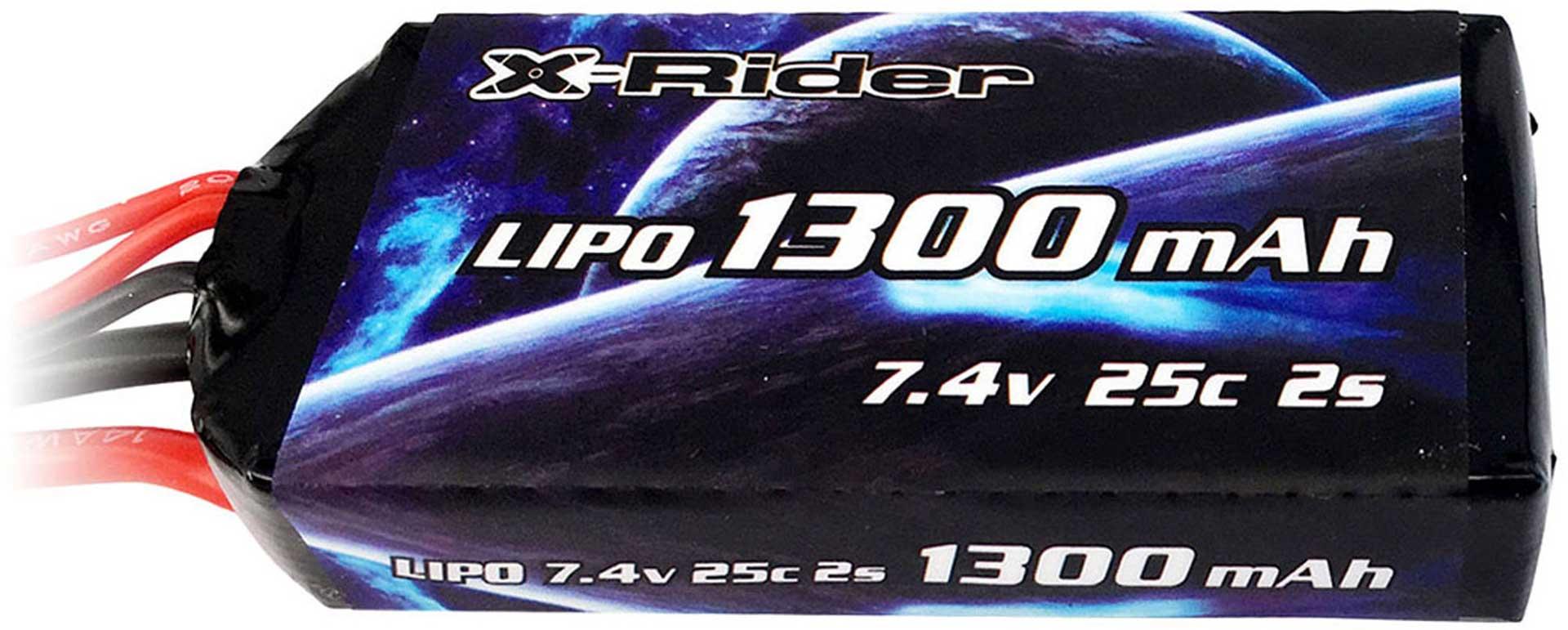 X-RIDER Akku LiPo 7.4V/1300mAh - 25C