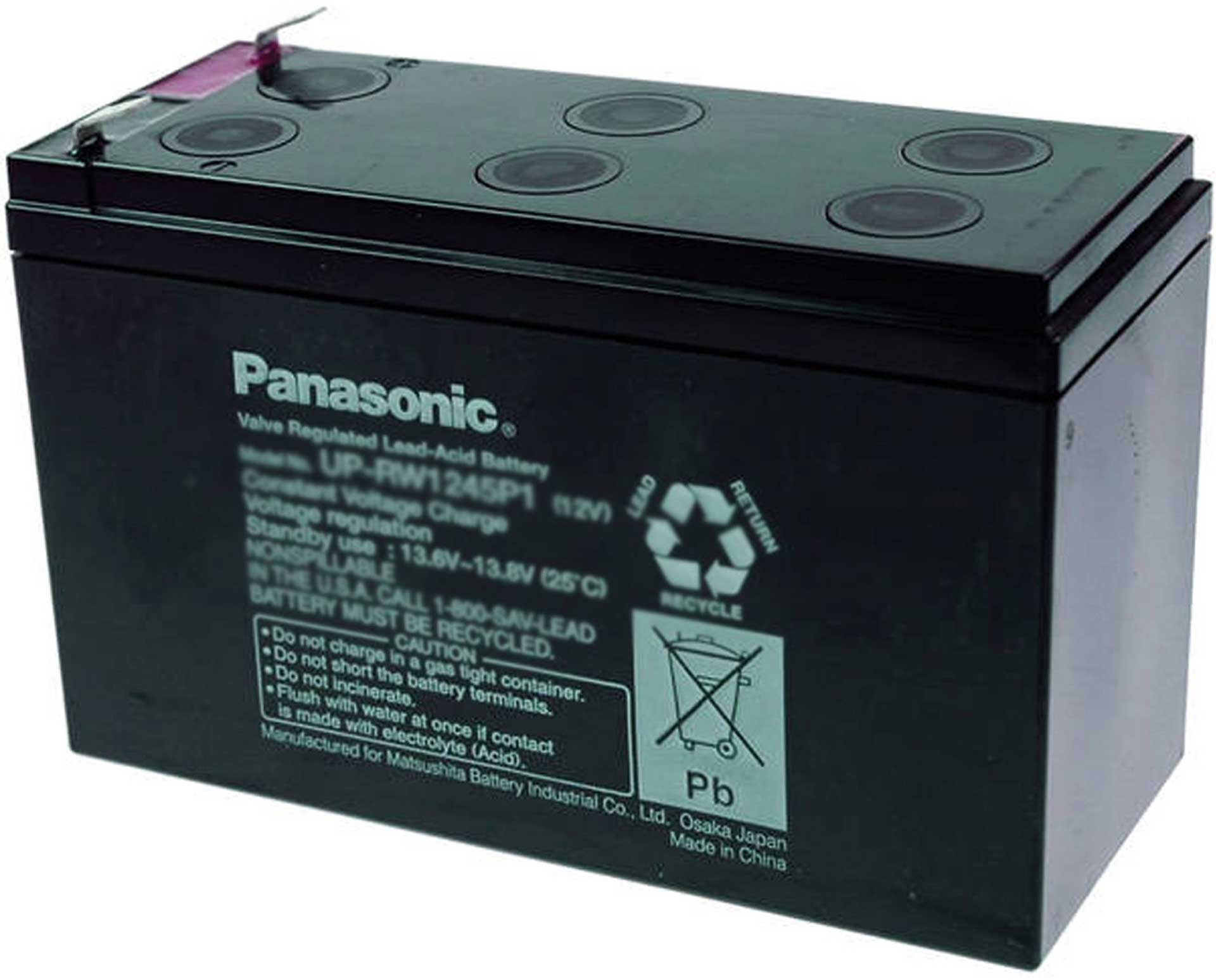 PANASONIC Lead acid battery UP-UW1245P1 PB 12V/7,8