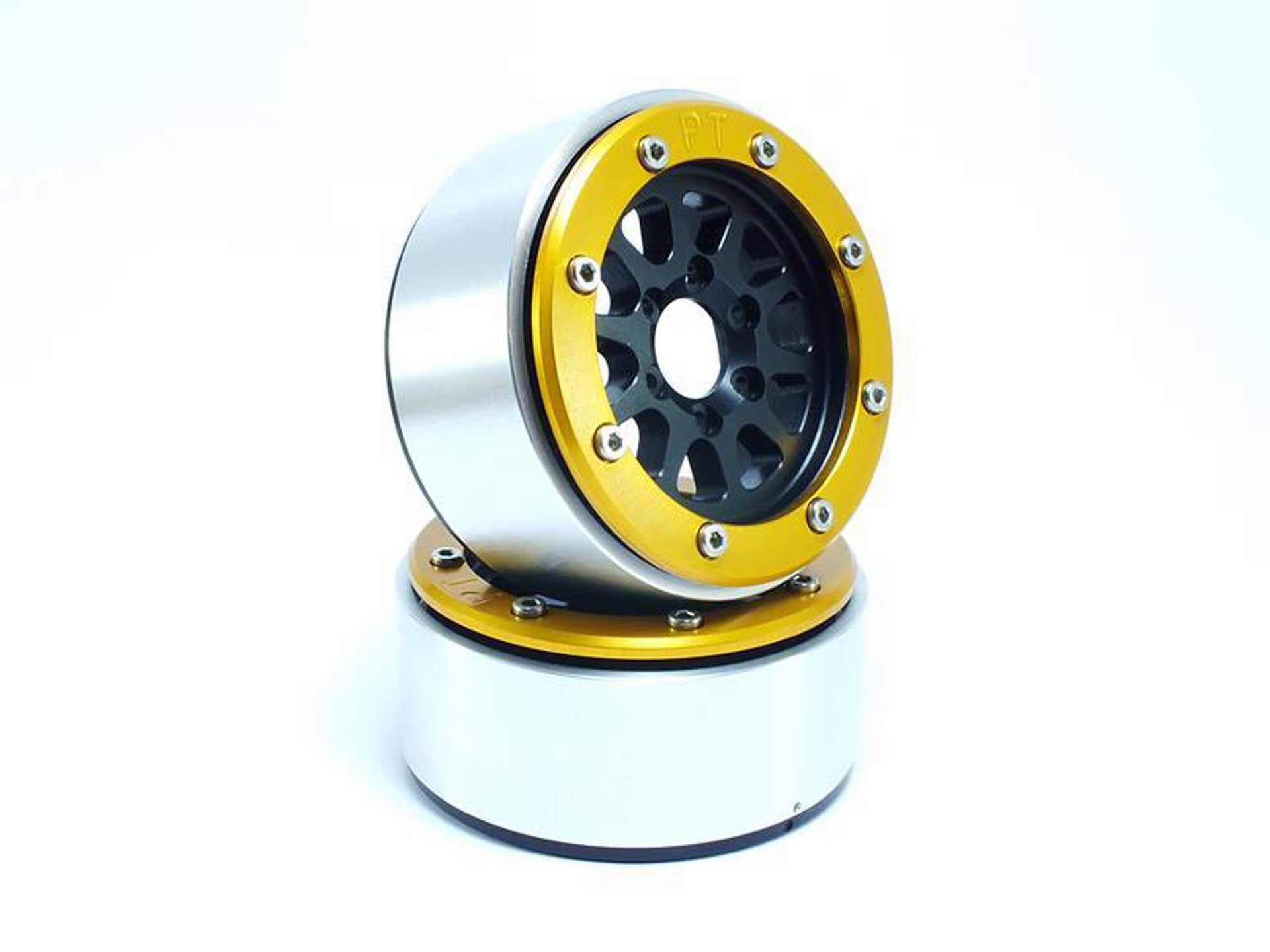 Metsafil Beadlock Wheels GEAR schwarz/gold 1.9 (2 St.) ohne Radnabe