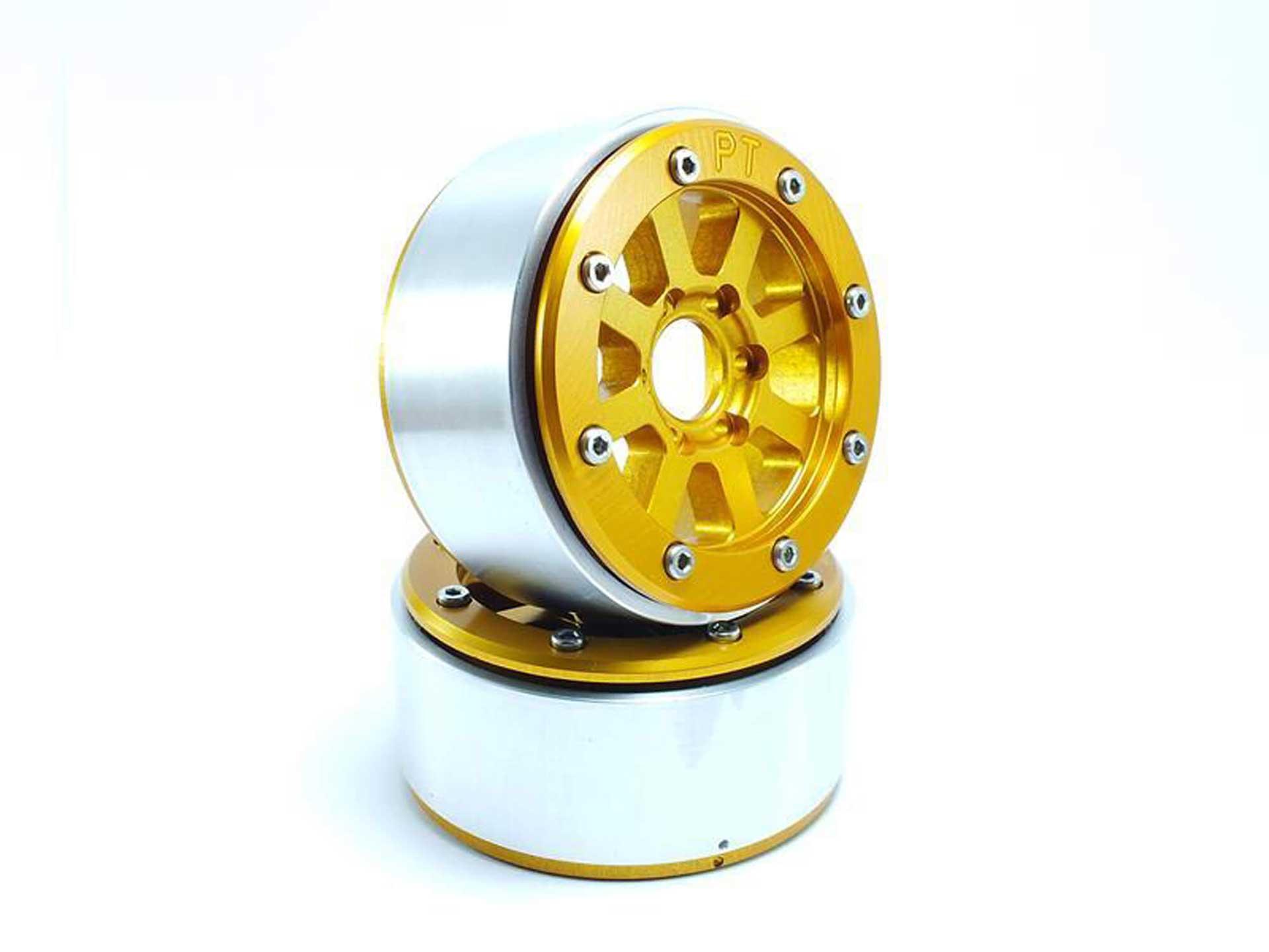 Metsafil Beadlock Wheels HAMMER gold/gold 1.9 (2 St.) ohne Radnabe