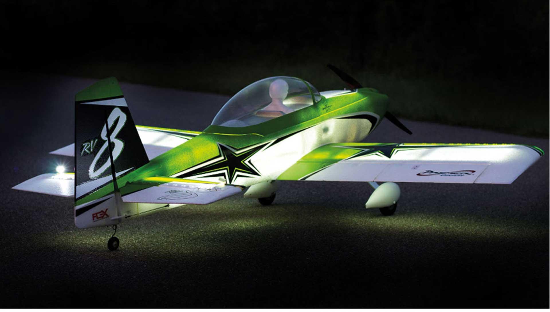 PREMIER AIRCRAFT RV-8 SUPER PNP NIGHT WITH AURA 8 AND NIGHT FLIGHT ILLUMINATION