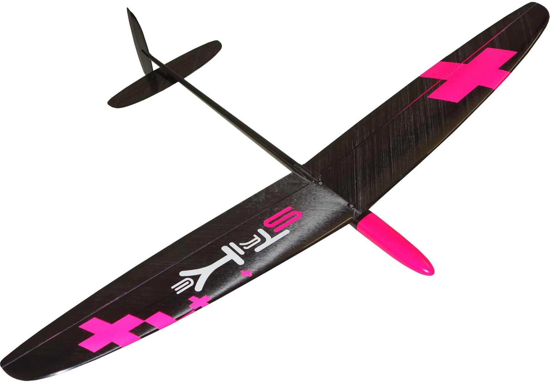 "OA-Composites Strike 3 Mini DLG Schleudersegler Farbe # C (""Plus"" Pink)"