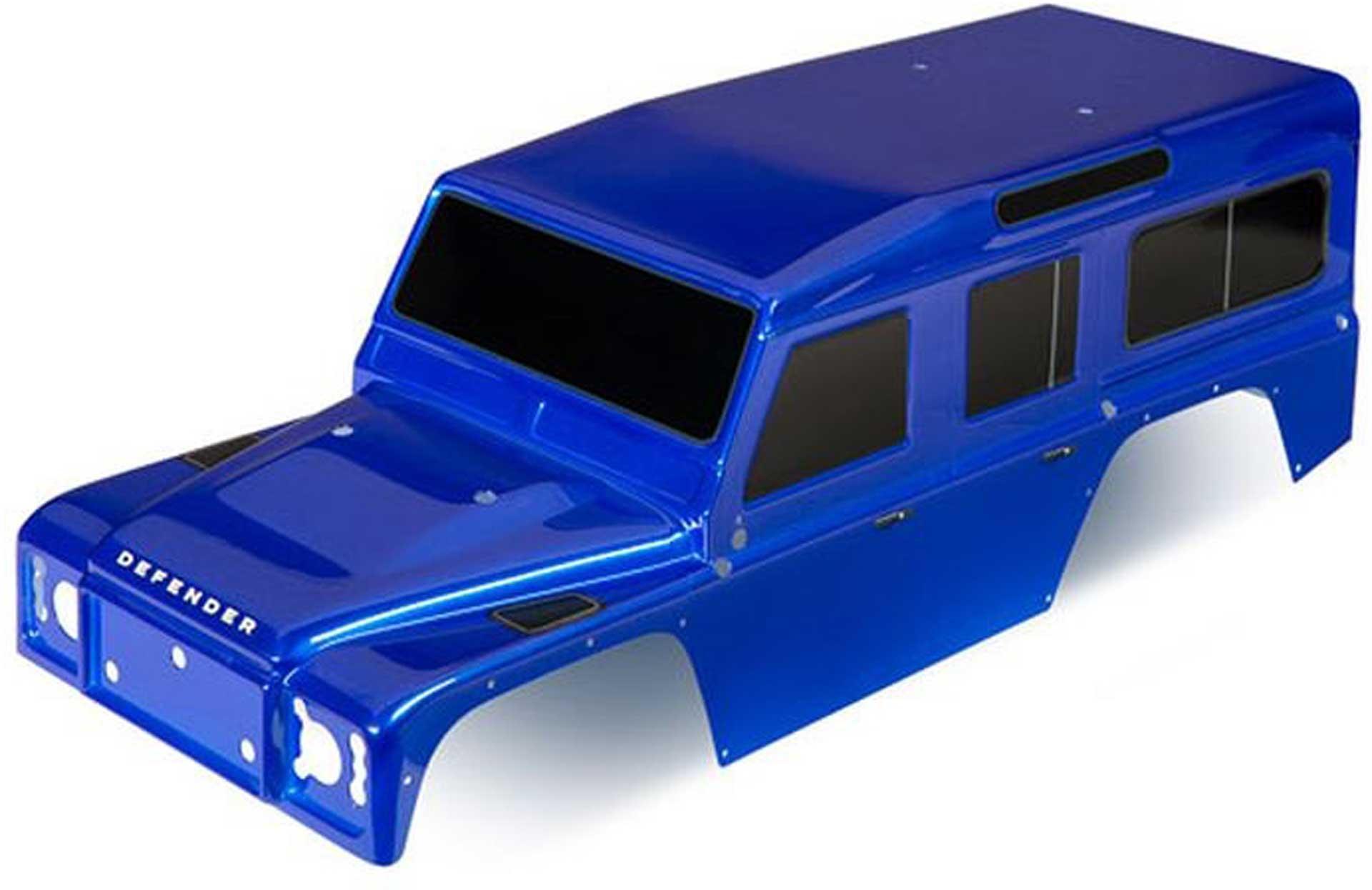TRAXXAS Karosserie Land Rover Defender blau inkl. Decals TRX-4