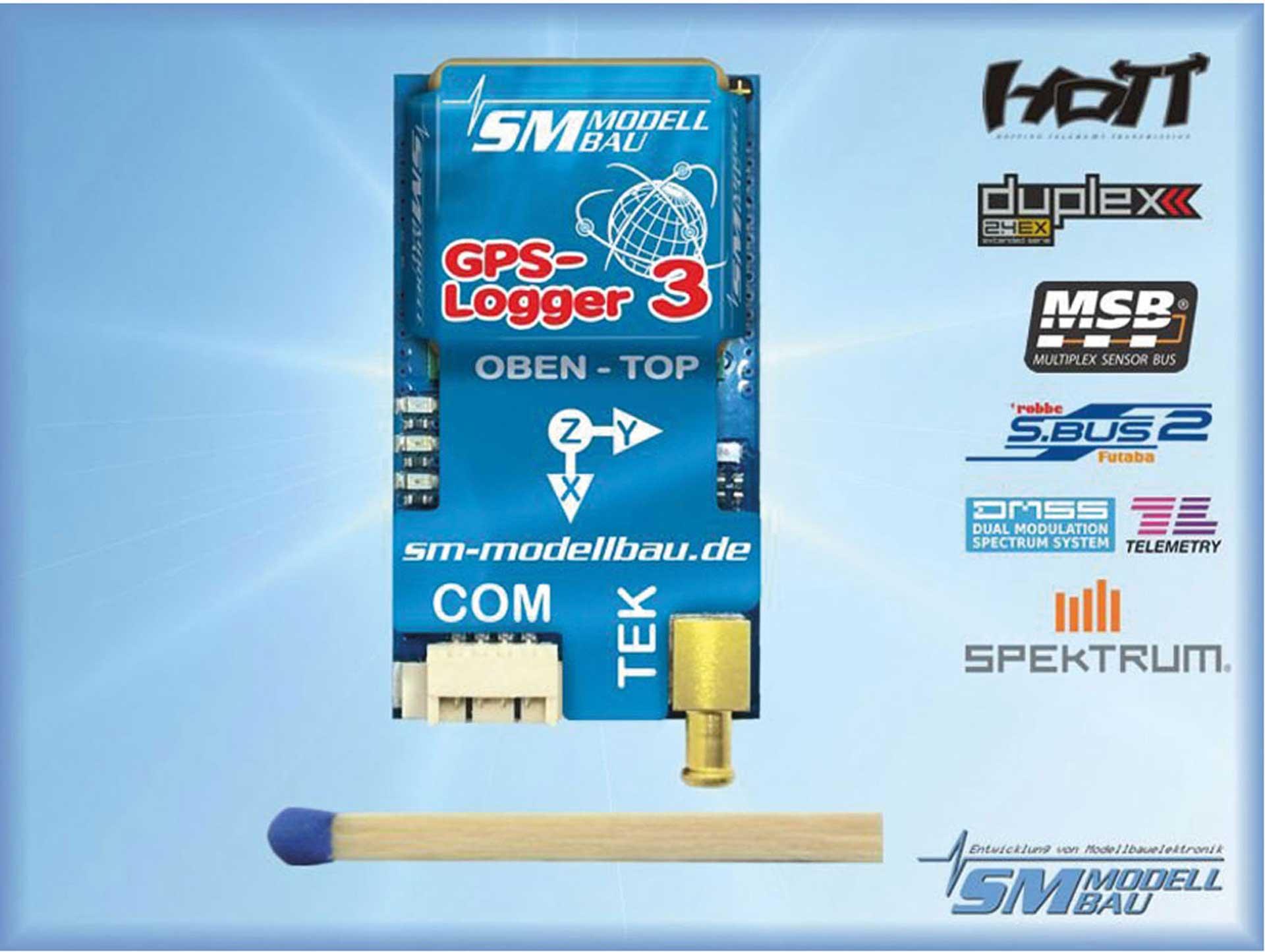 SM-Modellbau GPS LOGGER 3 TELEMETRIE DATENLOGGER