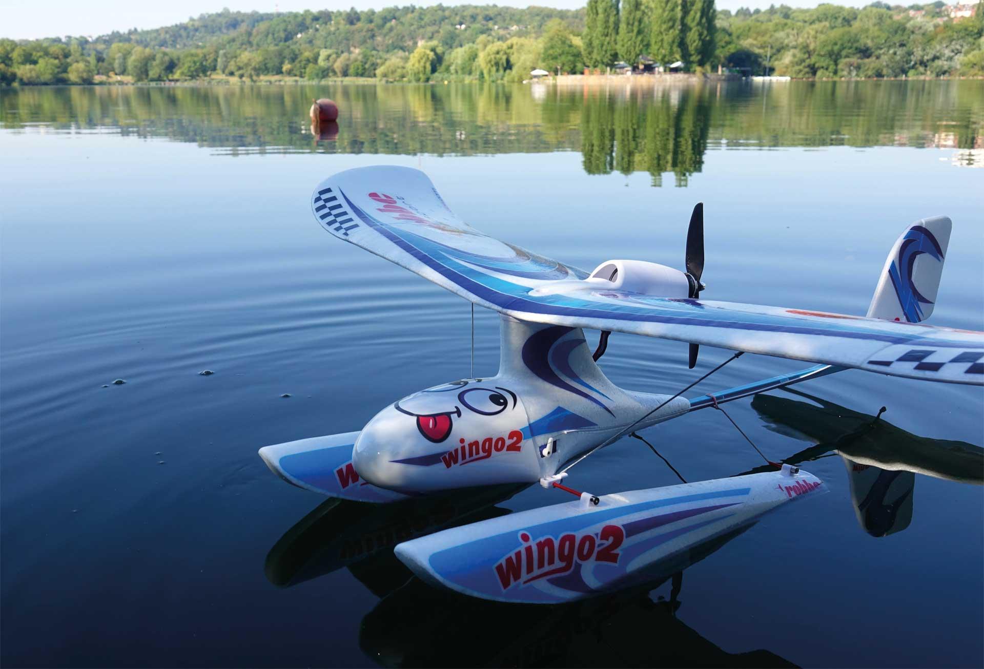 """Robbe Modellsport Wingo 2 Kit """"Summer Edition"""" mit Schwimmer + Aero Rumpfnase"""