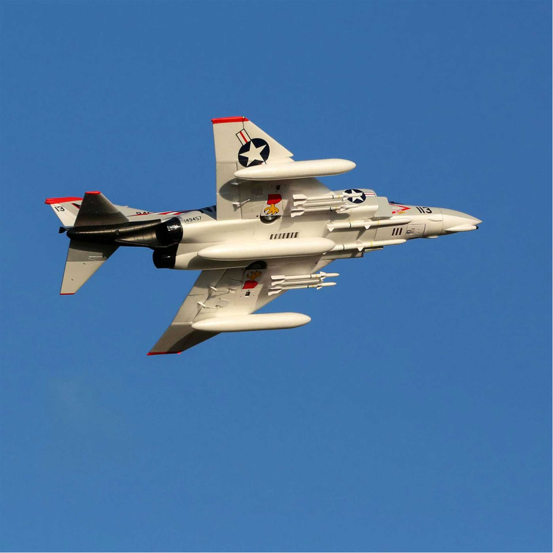 E-FLITE F-4 PHANTOM II 80MM EDF BNF BASIC WITH AS3X AND SAFE SELECT