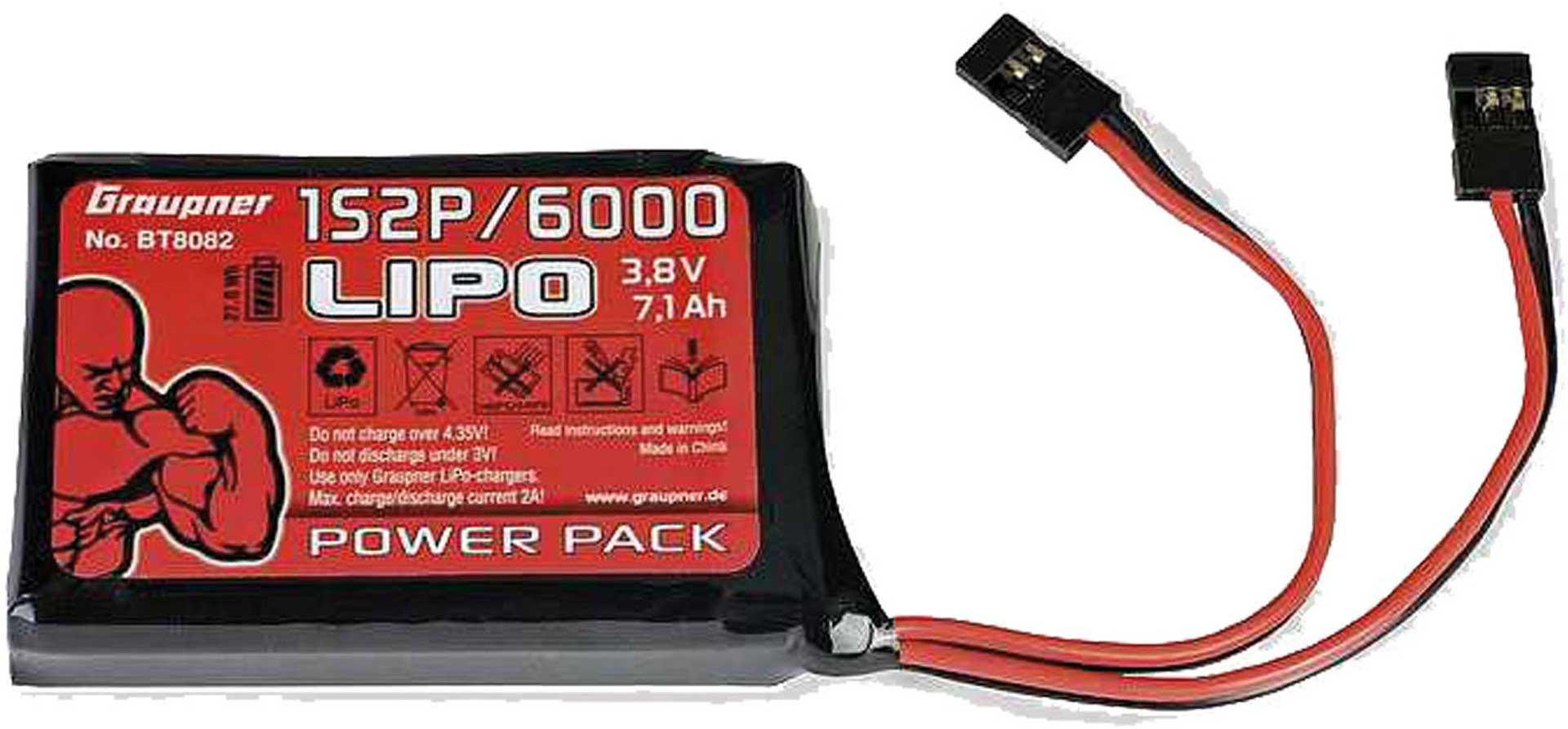GRAUPNER TRANSMITTER BATTERY 3,8V 6000MAH FOR HOTT MC-32 MX-10 MX-12 MX-16 MX-20 MC-20