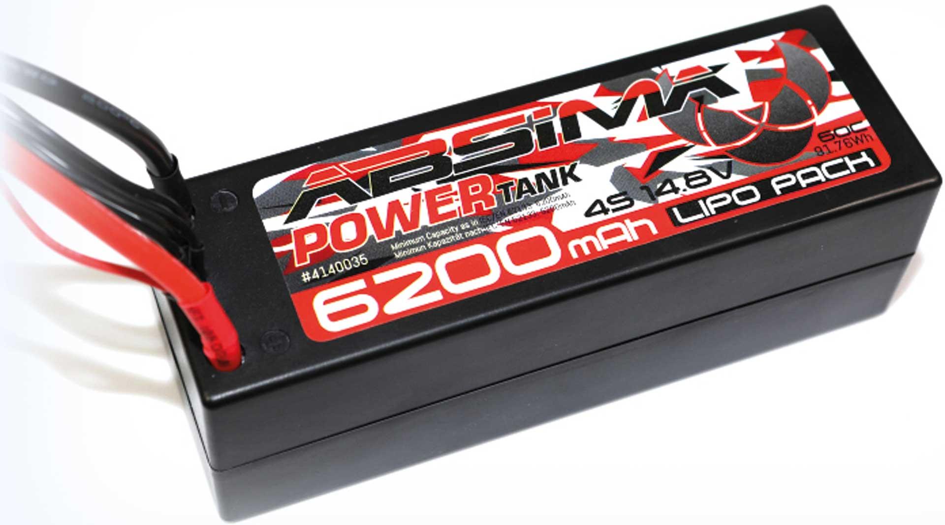Absima Power Tank LiPo Stick Pack 14,8V 60C 6200mah Hardcase (XT90 Plug)