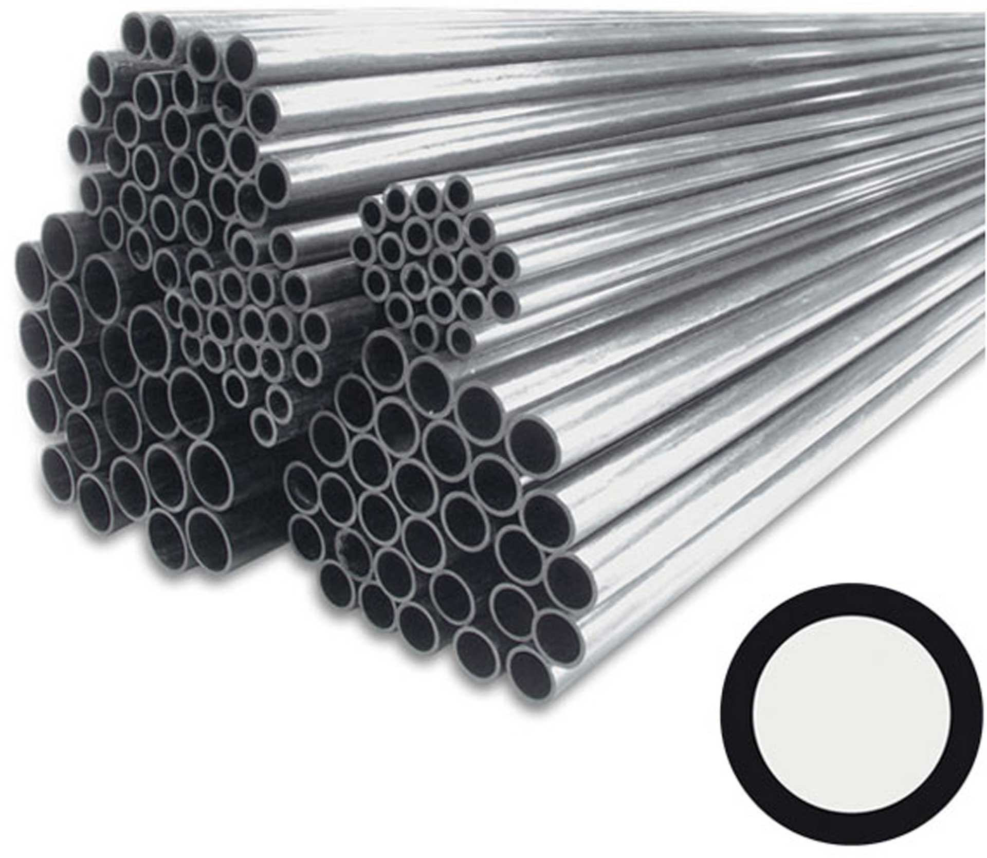 R&G CARBON FIBER ROUND TUBE PULTRUDED 4/3X1000MM