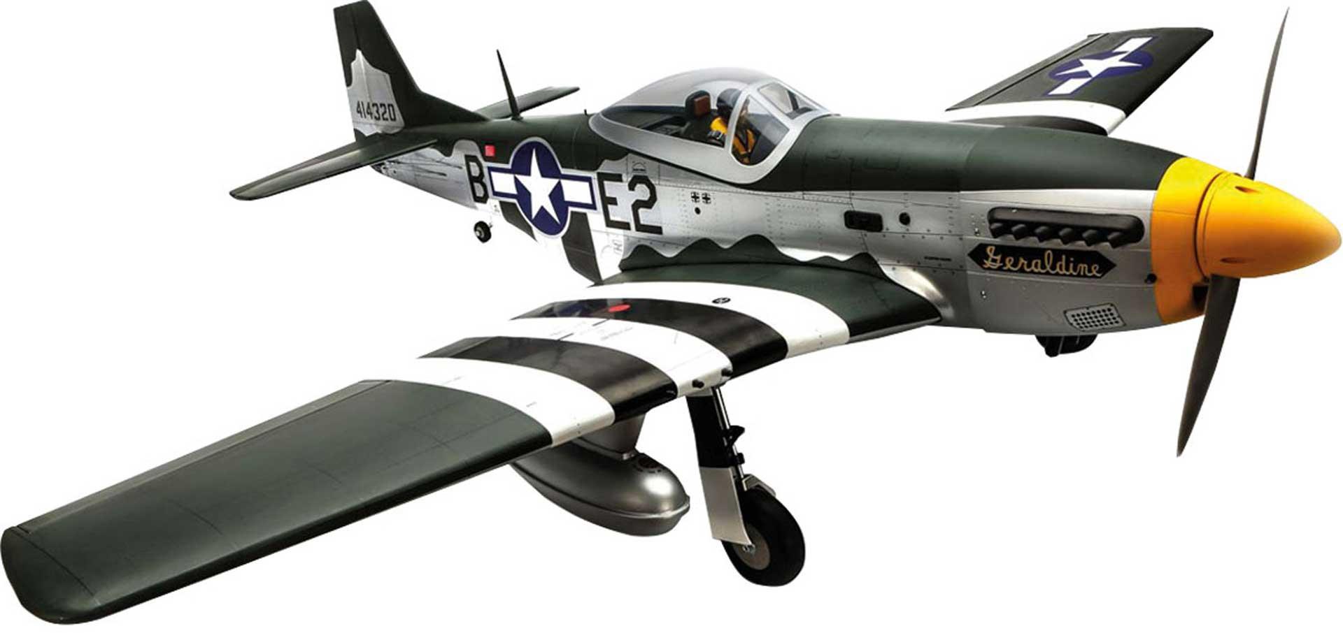 HANGAR 9 P-51D MUSTANG 20CC ARF WARBIRD IN HOLZBAUWEISE, OPTIONALES EINZIEHFAHRWERK