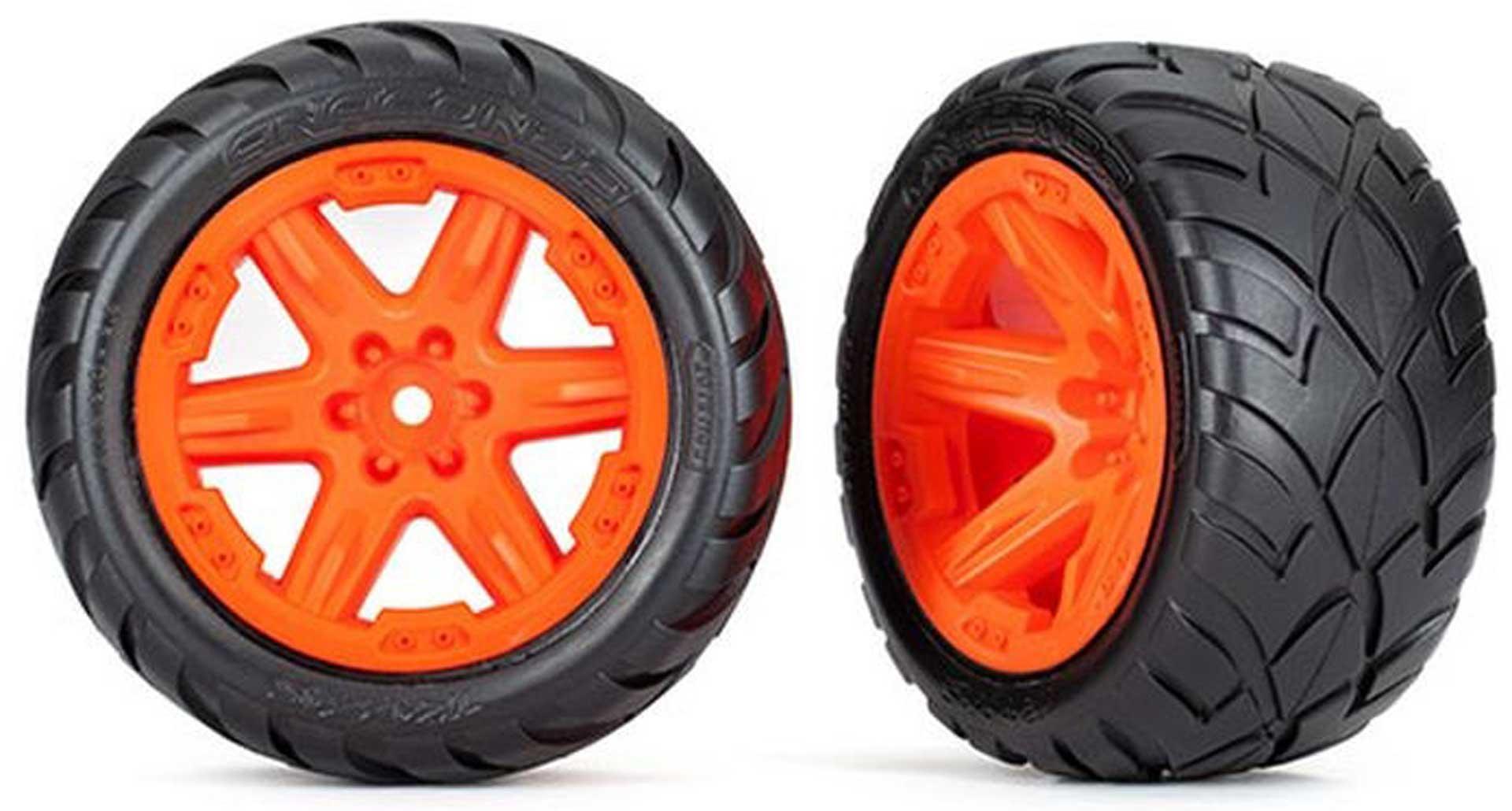 TRAXXAS REIFEN AUF FELGE 2.8 RXT ORANGE / ANACONDA (TSM RATED) 4WD V/H 2WD V