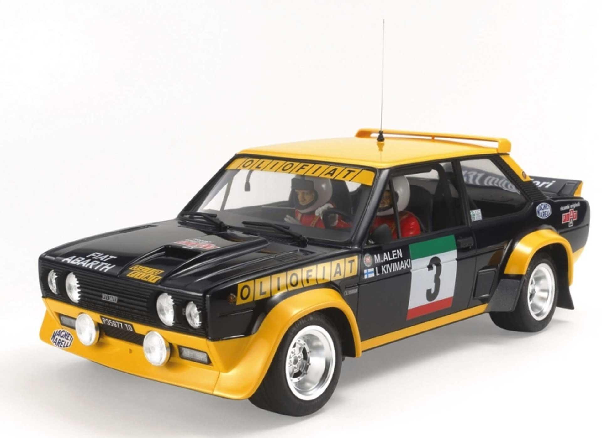 TAMIYA 1:20 Fiat 131 Abarth Rally Olio Bausatz Kunststoff