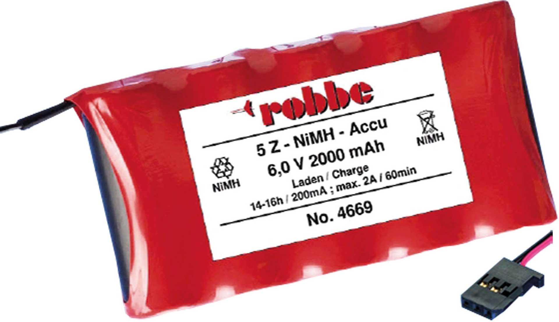 Robbe Modellsport SENDERAKKU 2000MAH/6V NIMH 4/5A T6J