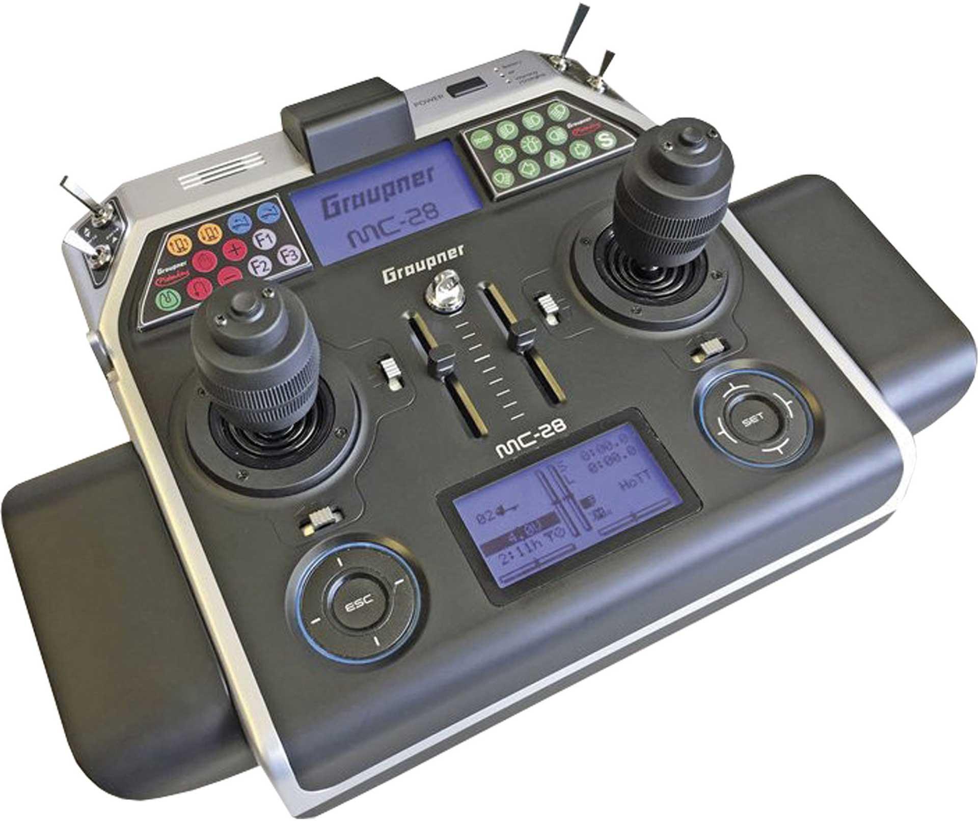 GRAUPNER MC-28 HOTT WITH 4D JOYSTICK SOLO REMOTE CONTROL