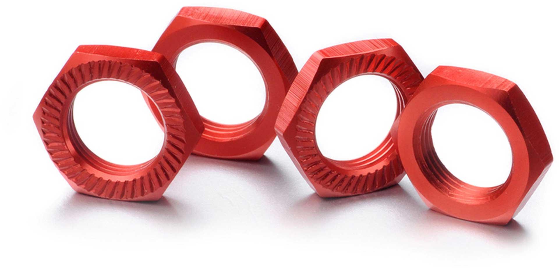 ABSIMA Wheel nut self-locking 17mm red (4)