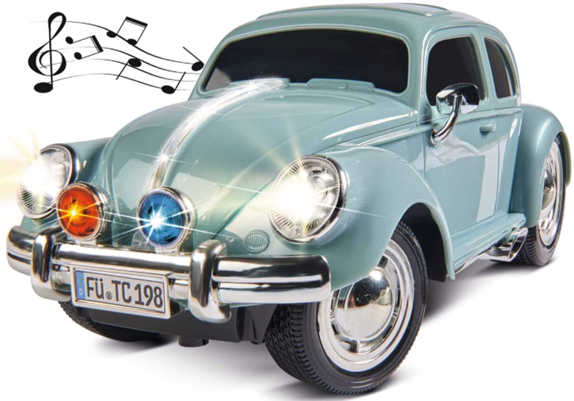 CARSON VW Käfer 2.4GHz 100% RTR taubenblau 1/14