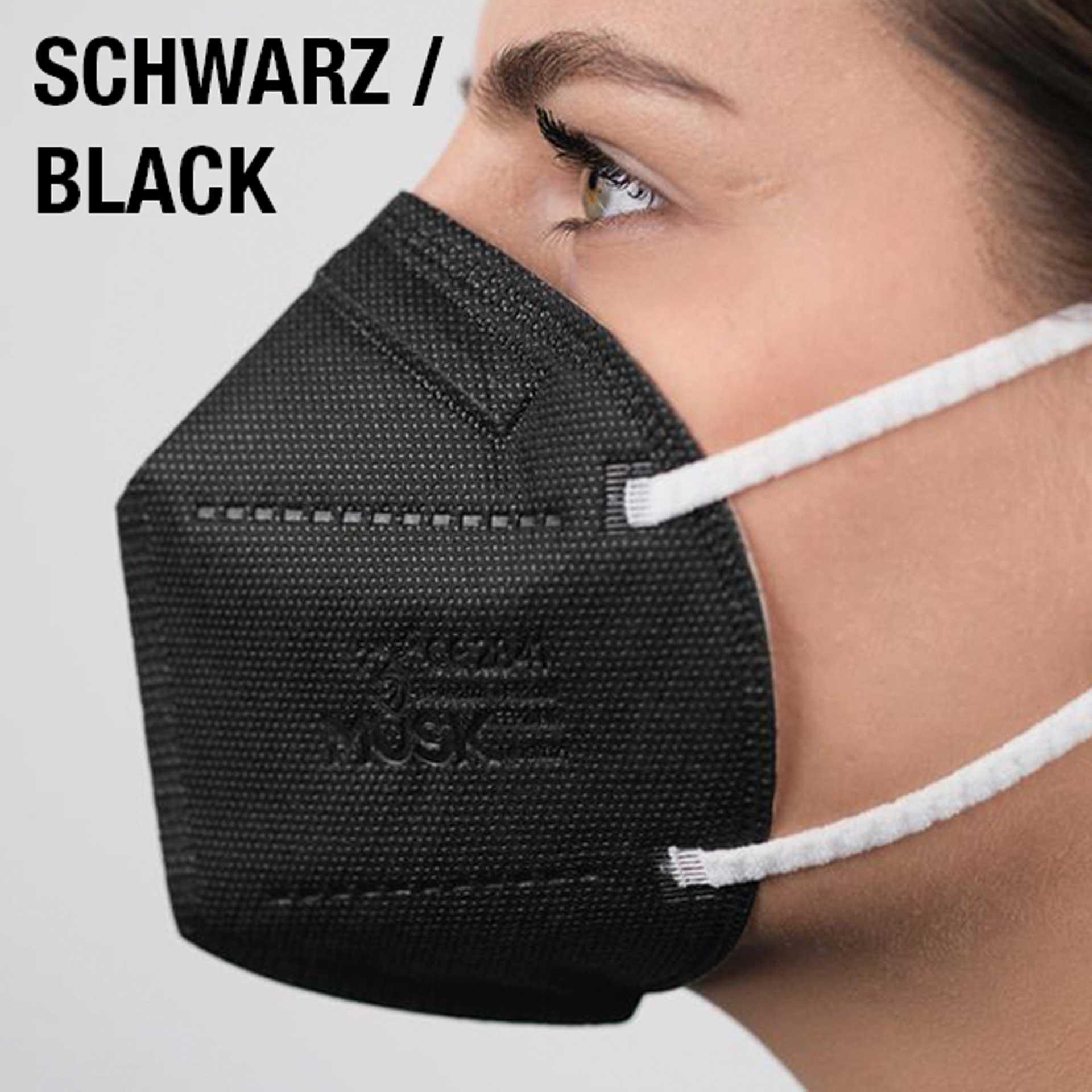 R&G Atemschutzmaske SCHWARZ, FFP2 NR, Packung/ 1 St.