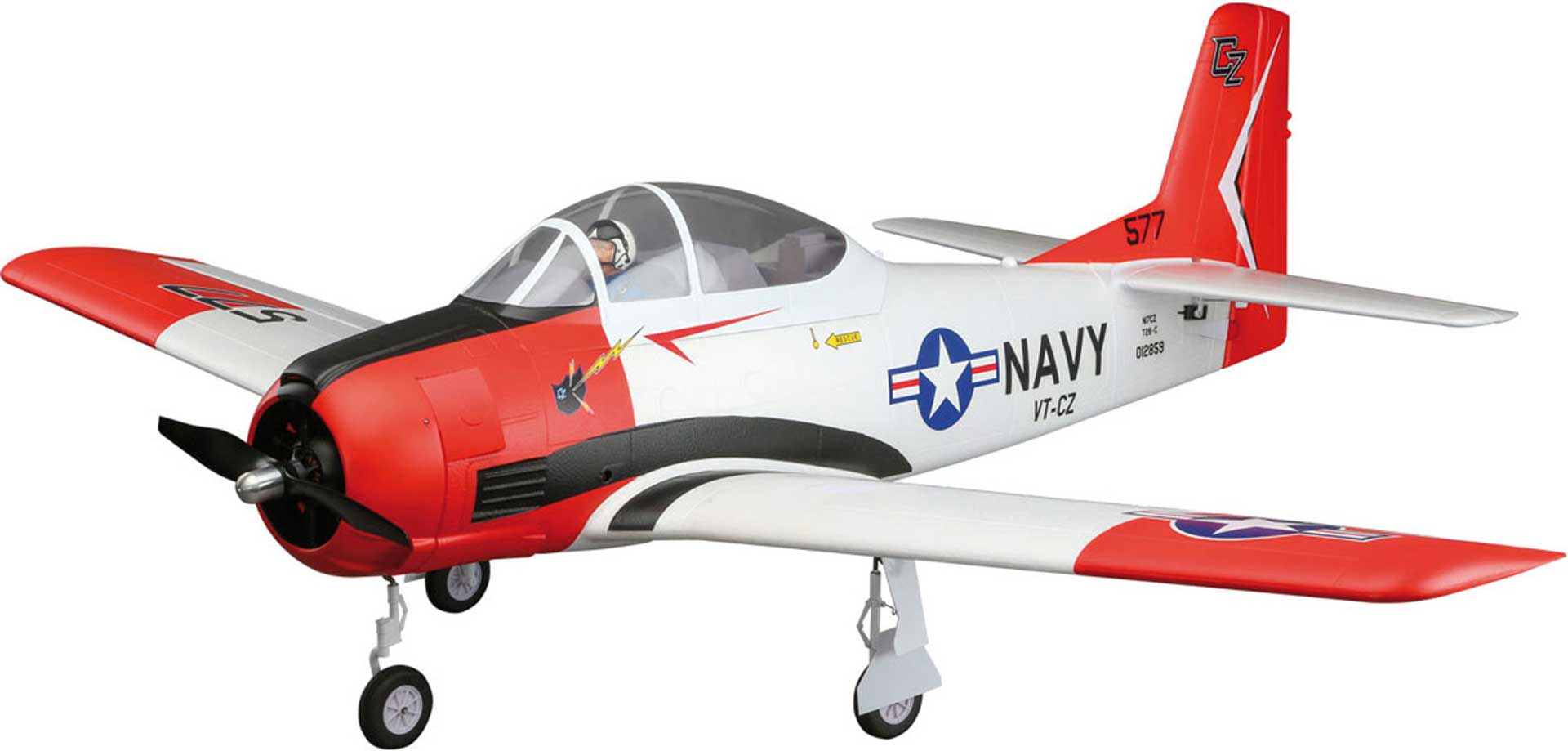 E-Flite T-28 CARBON-Z BNF BASIC WITH AS3X  TECHNOLOGY