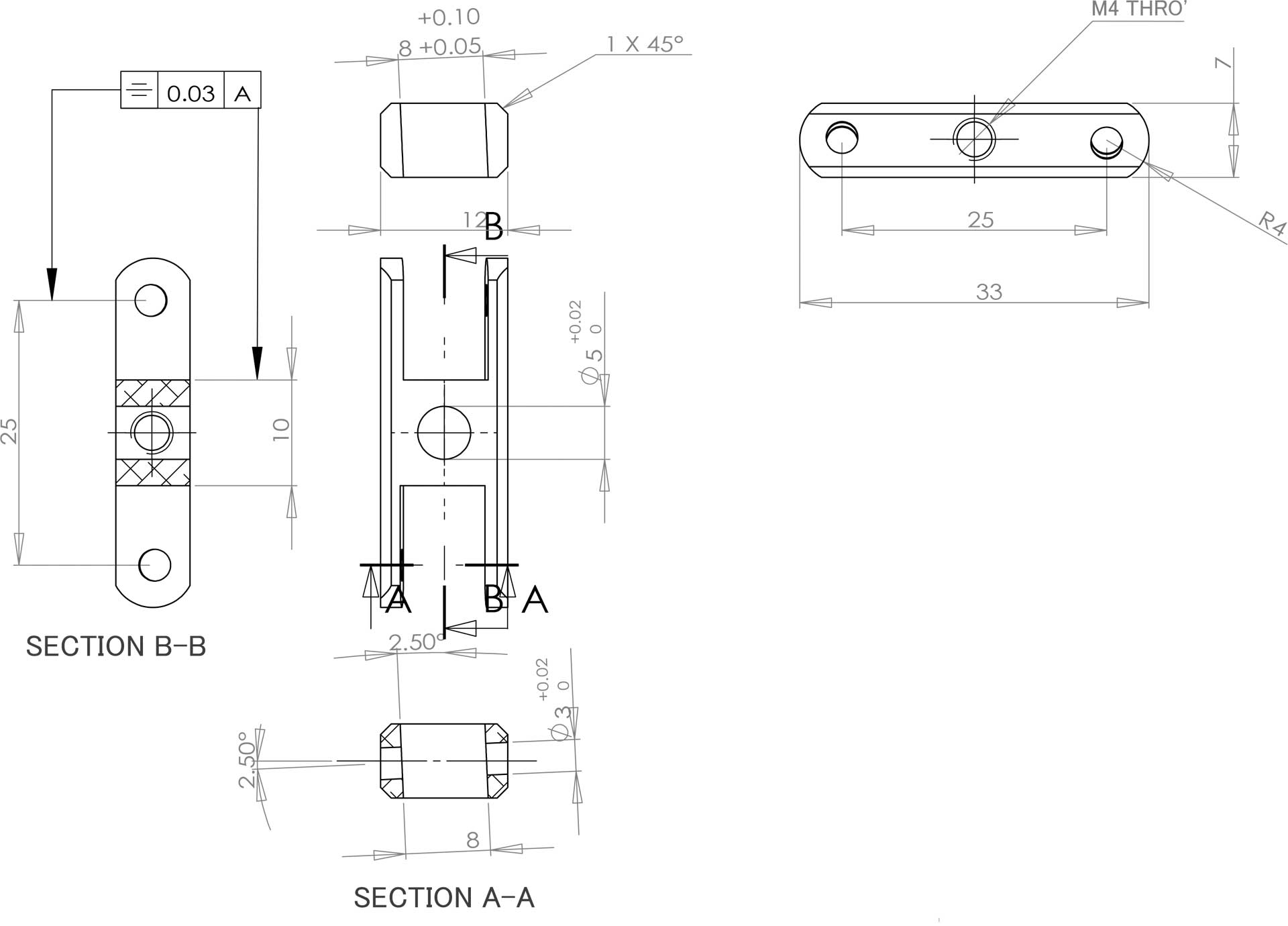 Robbe Modellsport avec telteil  LS 4226/12, 25mm, 2,5°, 5mm