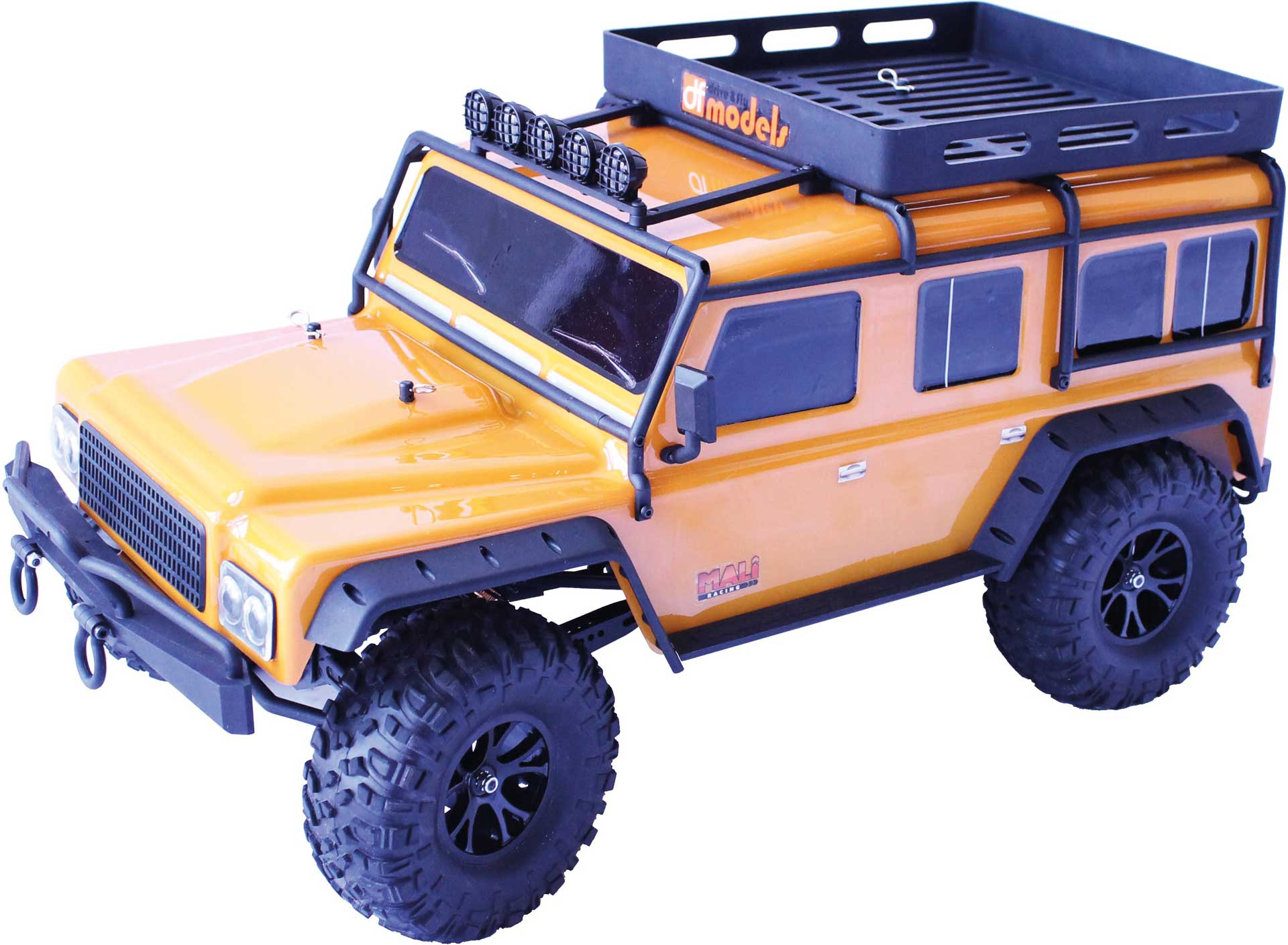 DRIVE & FLY MODELS DF-4J Crawler ORANGE 2-speed LED - 2021 Edition