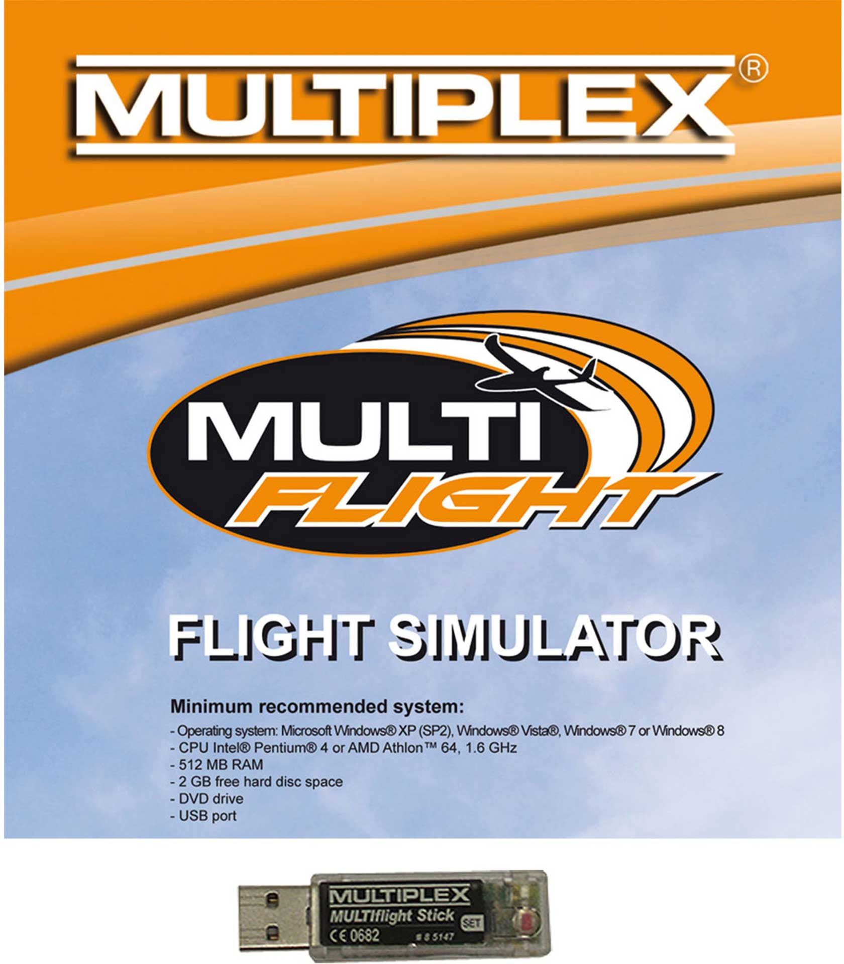 MULTIPLEX MULTIFLIGHT STICK MIT MULTIFLIGHT CD