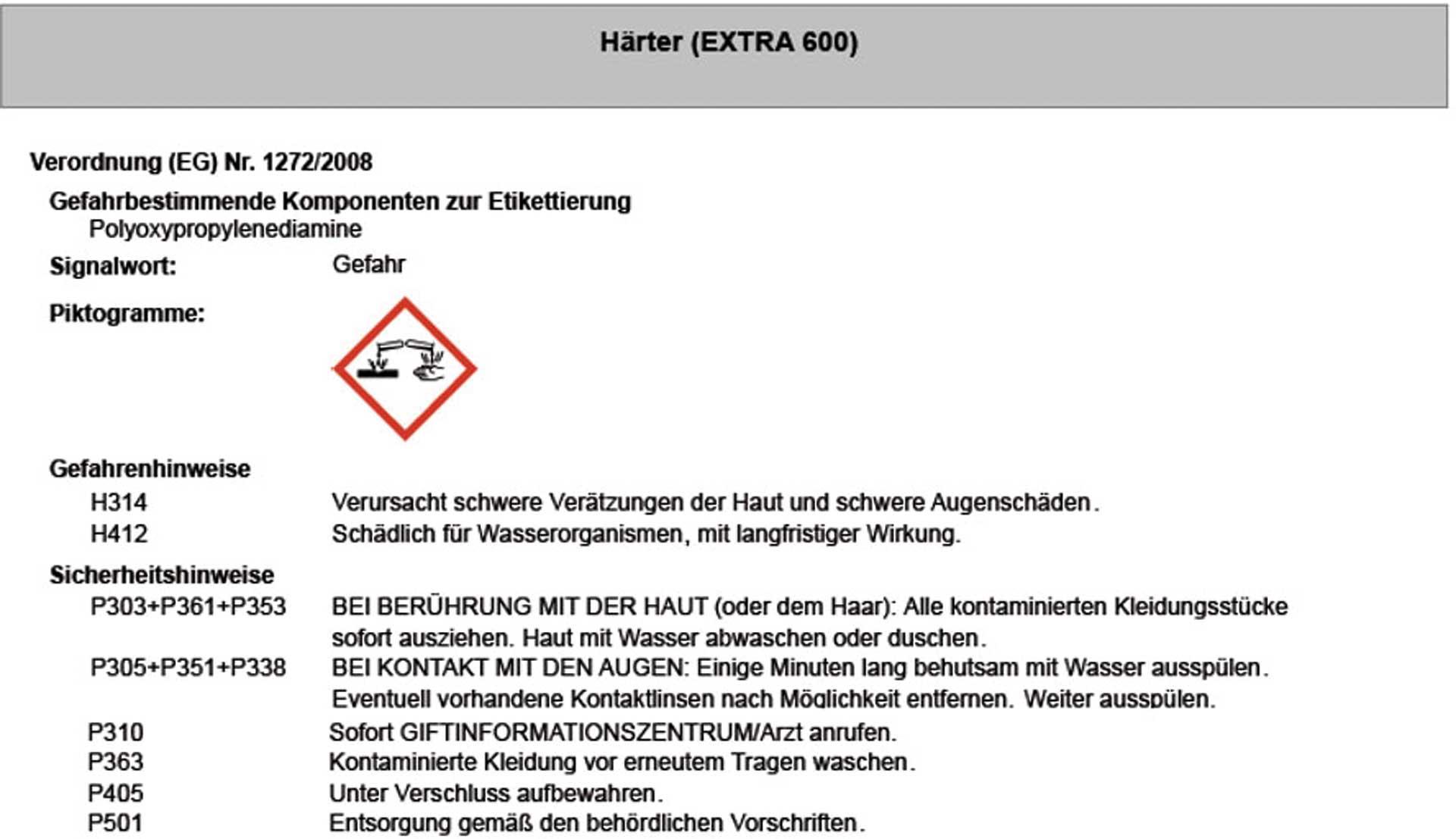 R&G EP-Gießharz (EXTRA 600) + Härter, Packung/ 2,84 kg