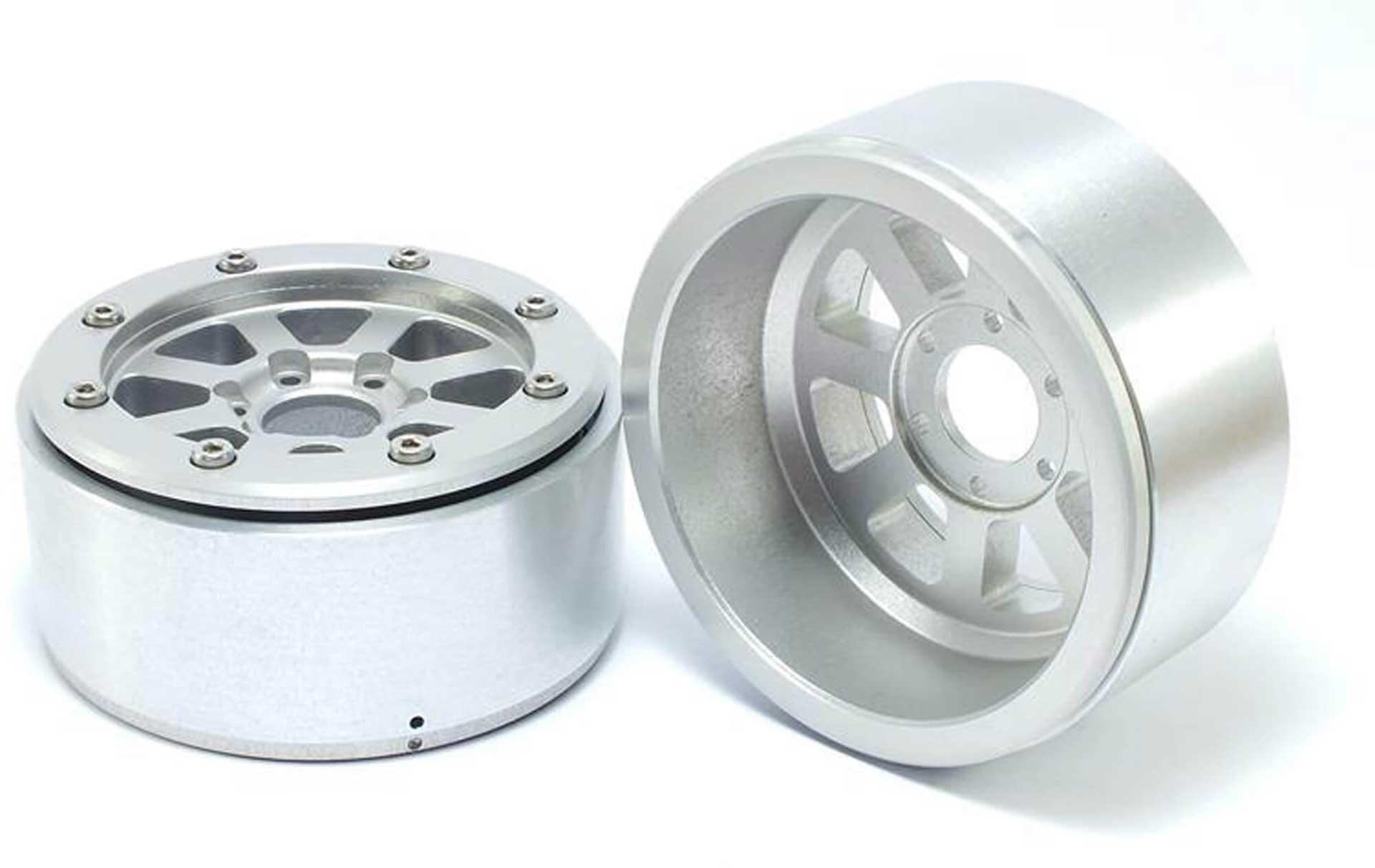Metsafil Beadlock Wheels HAMMER silber/silber 1.9 (2 St.) ohne Radnabe