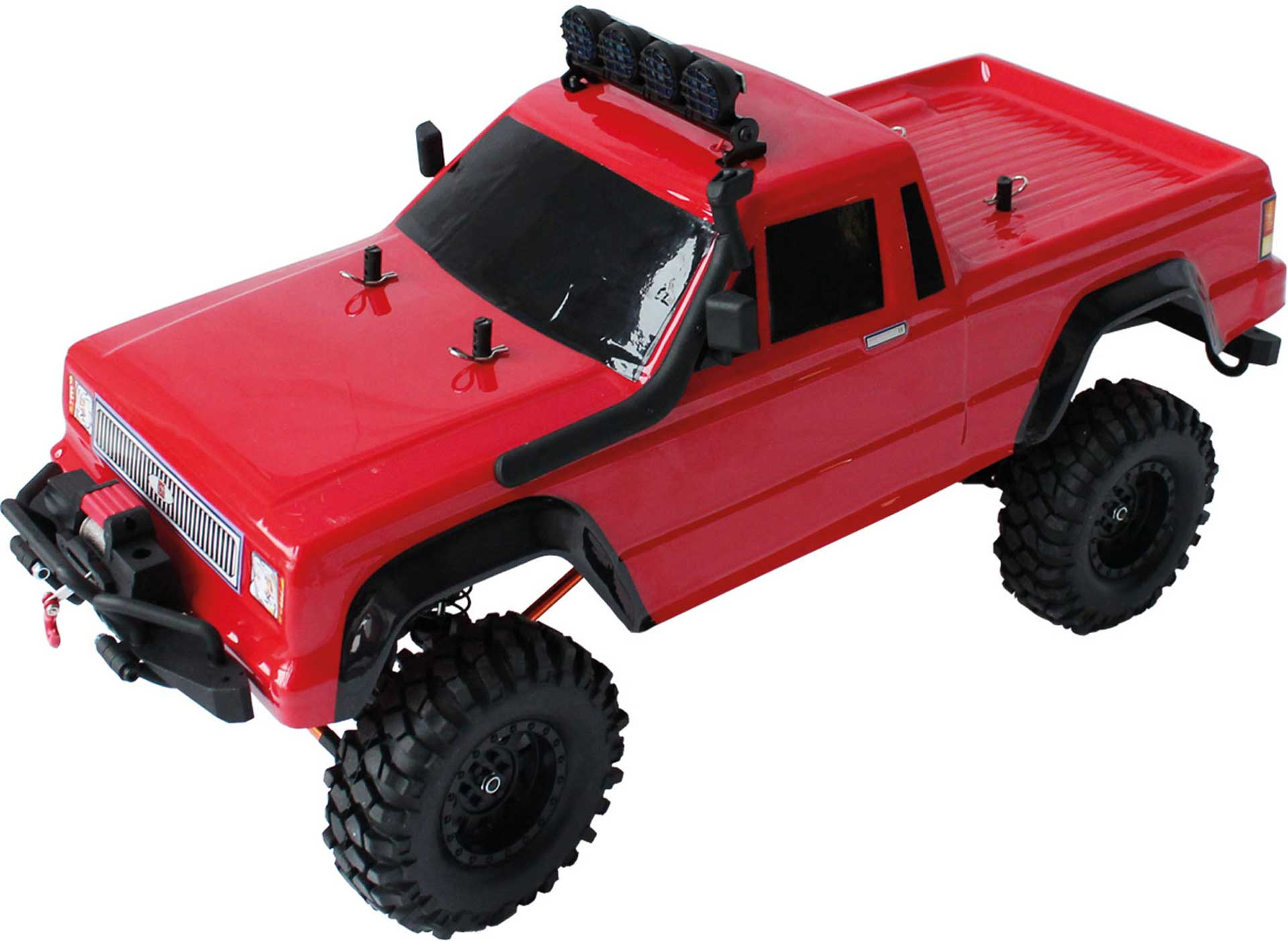 DRIVE & FLY MODELS DF-4S V2 PICK UP CRAWLER ROT 1/10 RTR 4WD MIT SEILWINDE UND 2-GANG GETRIEBE