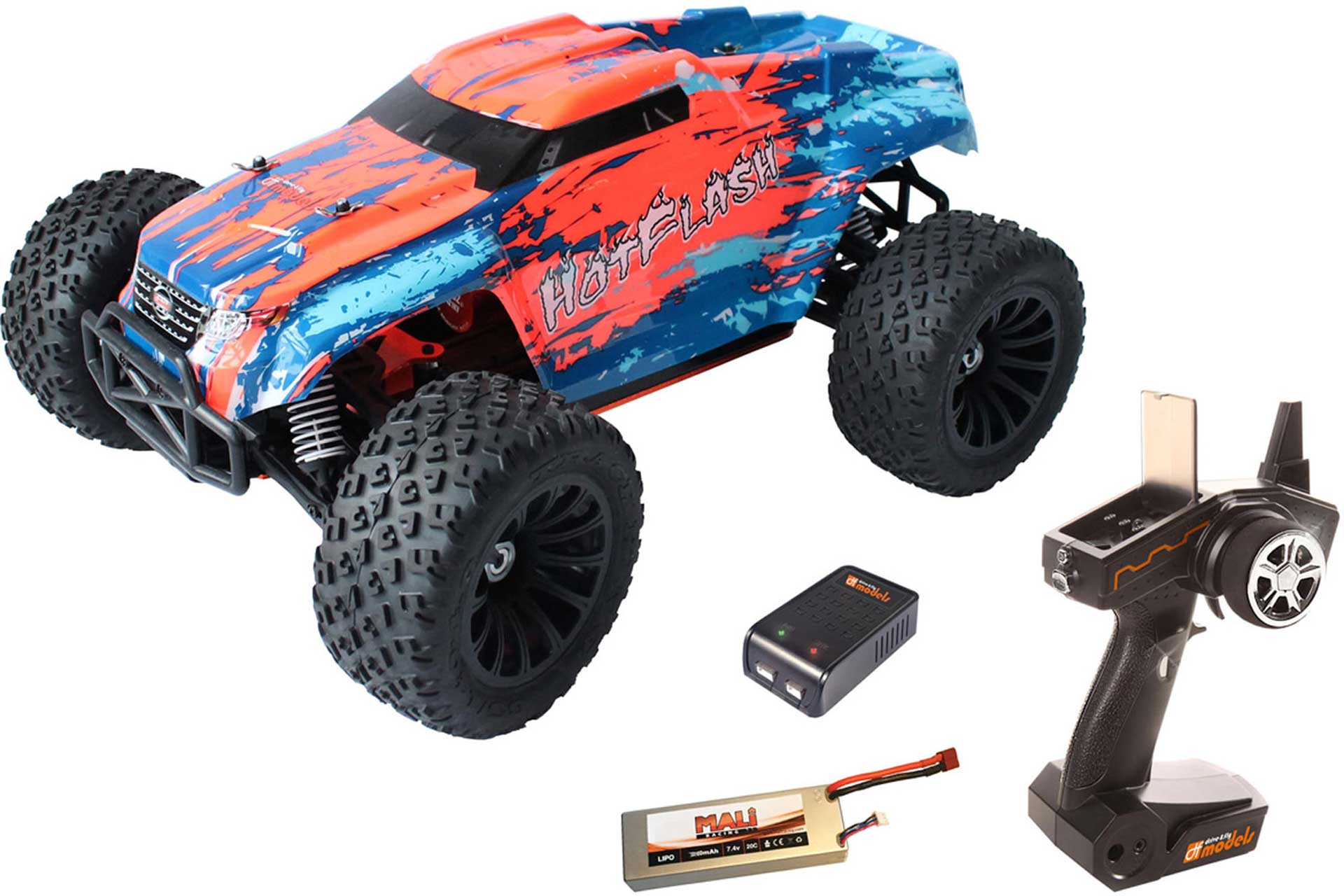 DRIVE & FLY MODELS HOT FLASH BRUSHLESS 1/10 XL TRUCK RTR 4WD