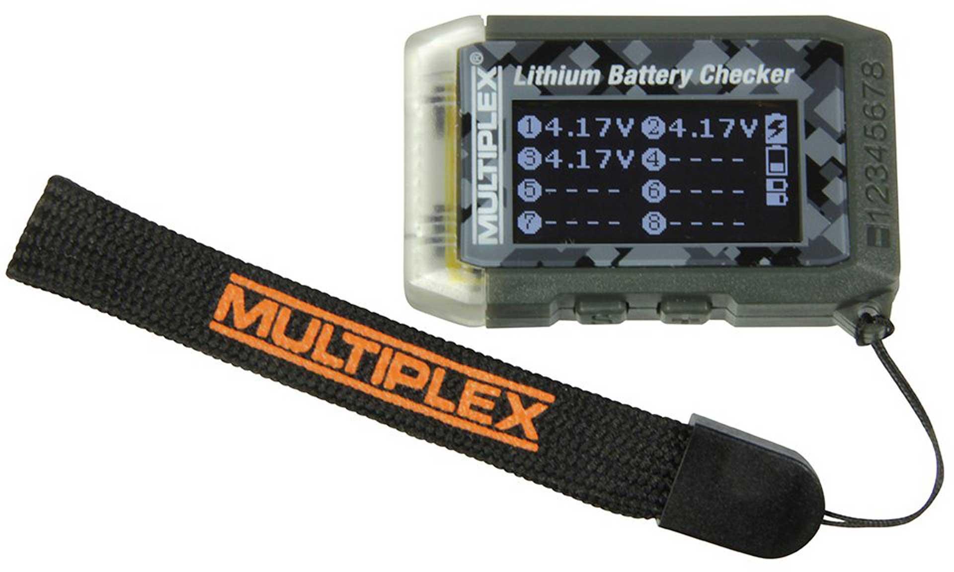 MULTIPLEX LITHIUM BATTERY CHECKER & MODELLFINDER