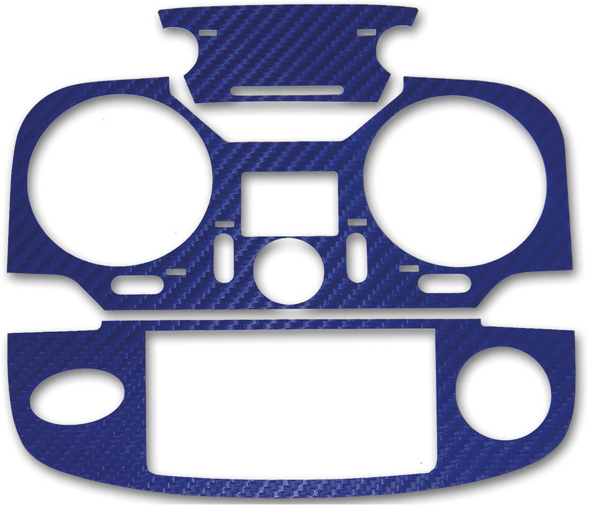 ACT T12K 3D-Folie Carbonlook blau metallic