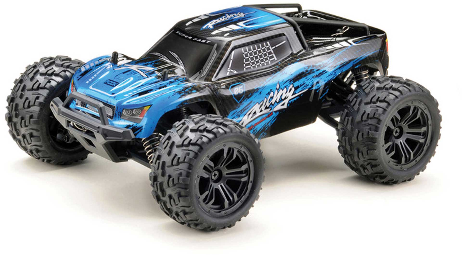 "ABSIMA 1:14 High-Speed Truck ""RACING"" 4WD RTR schwarz/blau"