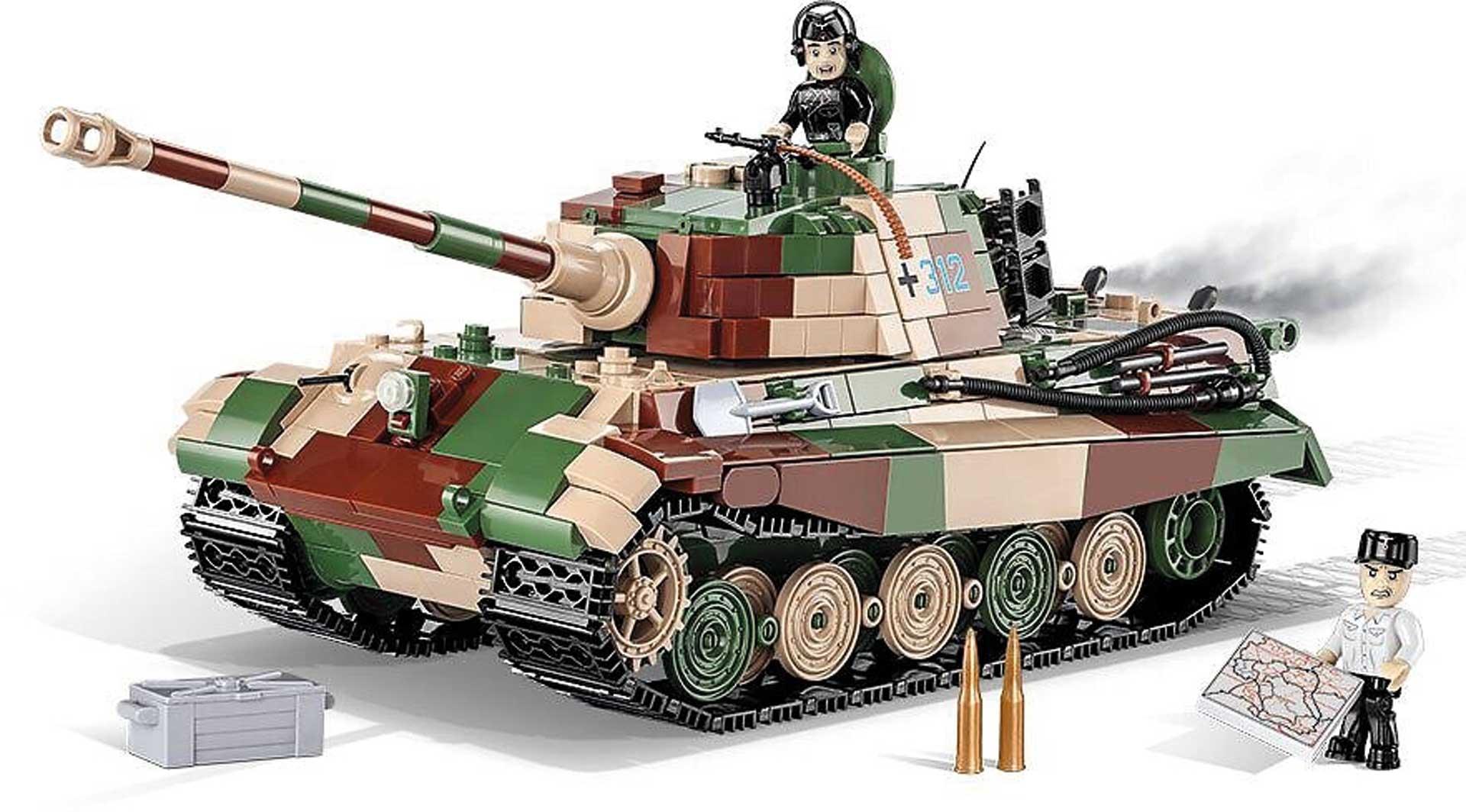 COBI Panzerkampfwagen VI Ausf. B Königstiger 1000 Teile Klemmbausteine
