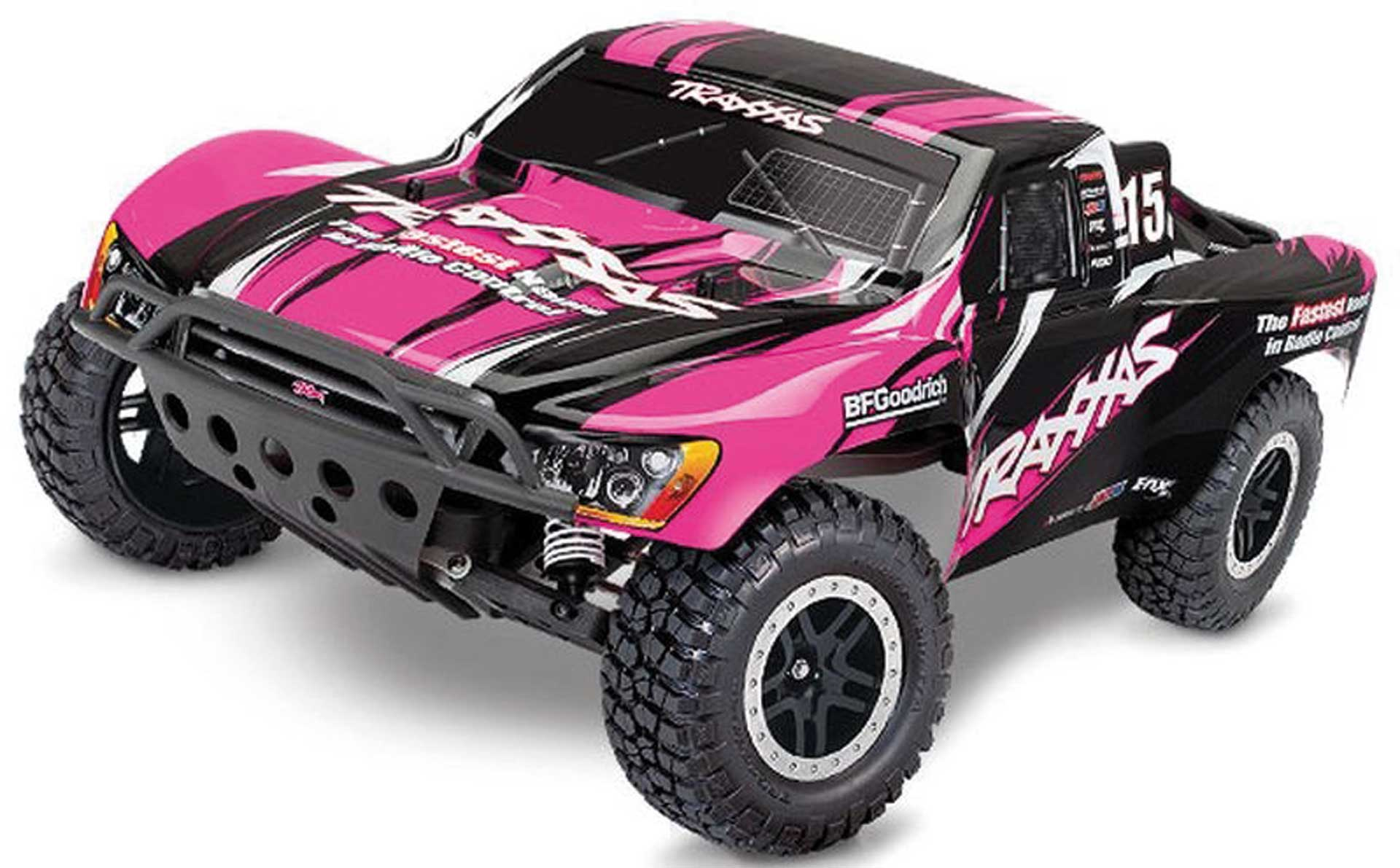 Traxxas SLASH PINKX RTR +12V-LADER+AKKU 1/10 2WD SHORT COURSE RACING TRUCK BRUSHED