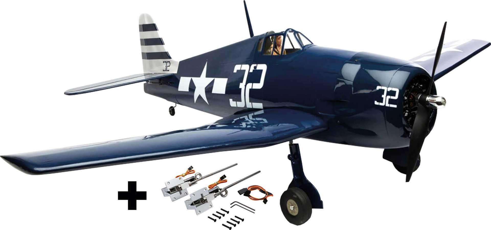HANGAR 9 F-6F Hellcat 15cc ARF Aktion SVR mit elektrischem Einziehfahrwerk EFLG520