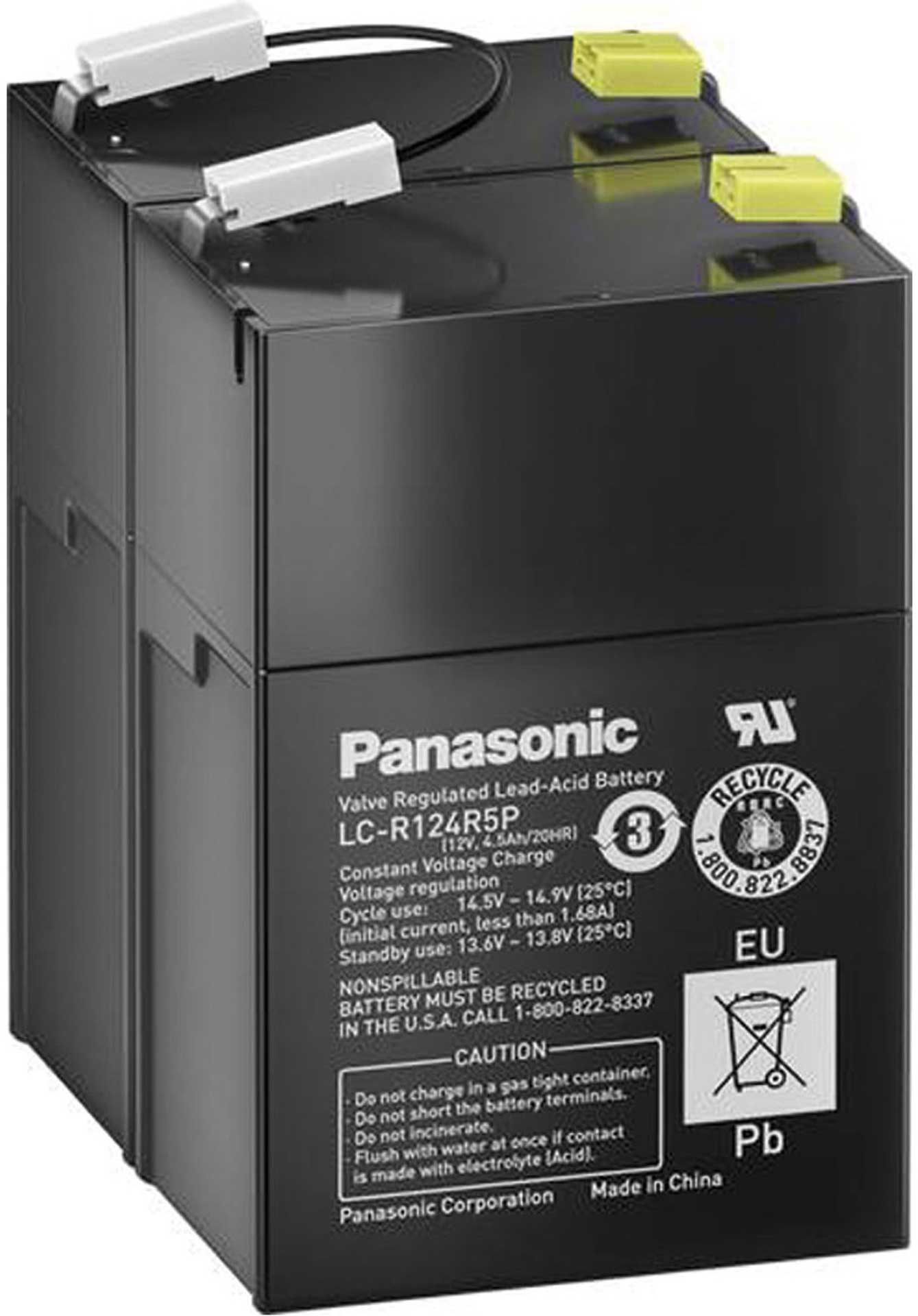 PANASONIC LEAD BATTERY 12V 4,5AH LC-R124R5PD G 108MM7B 70MM/T 97MM