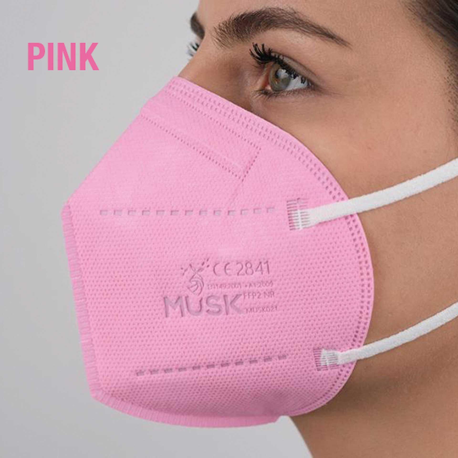 R&G Atemschutzmaske PINK, FFP2 NR, Packung/ 1 St.
