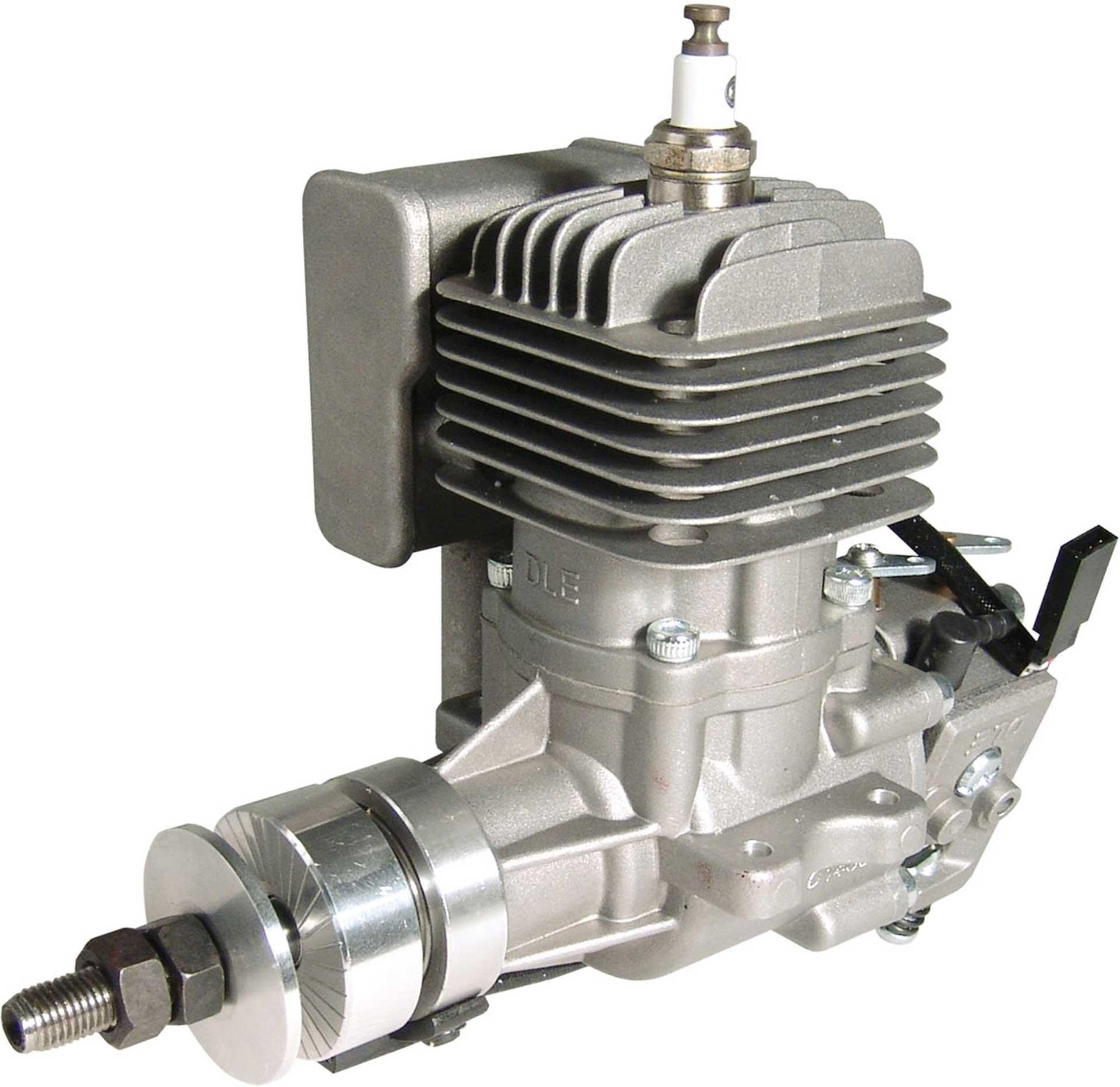 DLE Engines DLE 20 BENZIN MOTOR SEITENAUSLASS