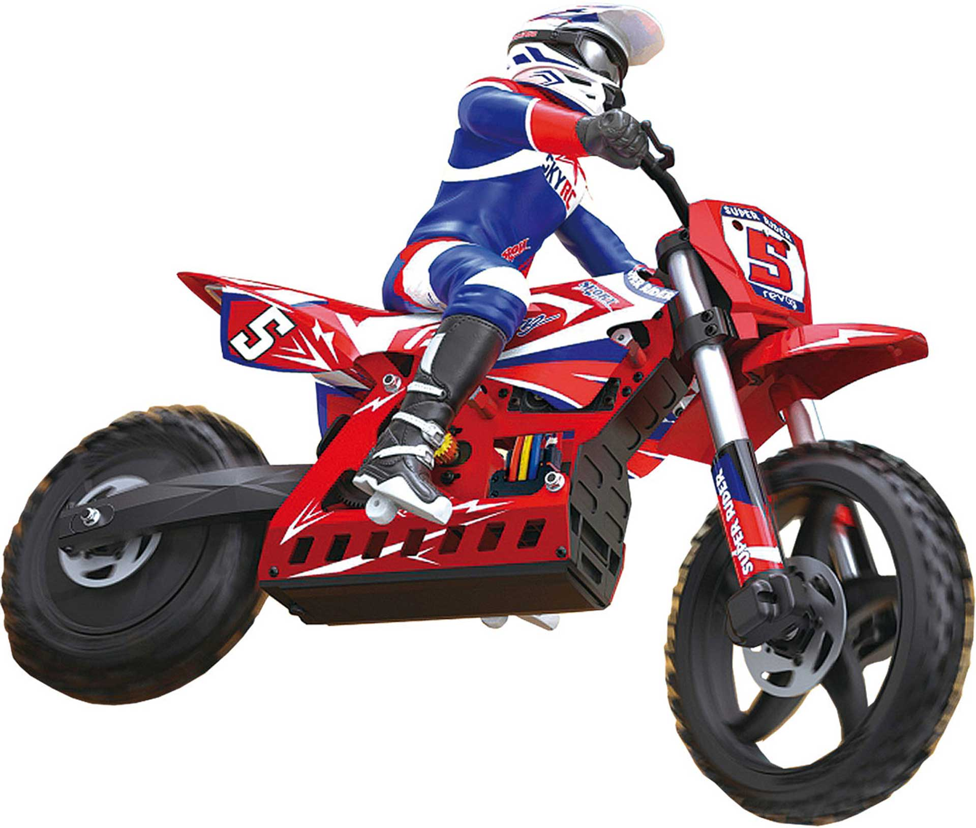 SKYRC SUPER RIDER SR5 1/4 SCALE RC DIRT BIKE INCL. GYRO STABILIZER