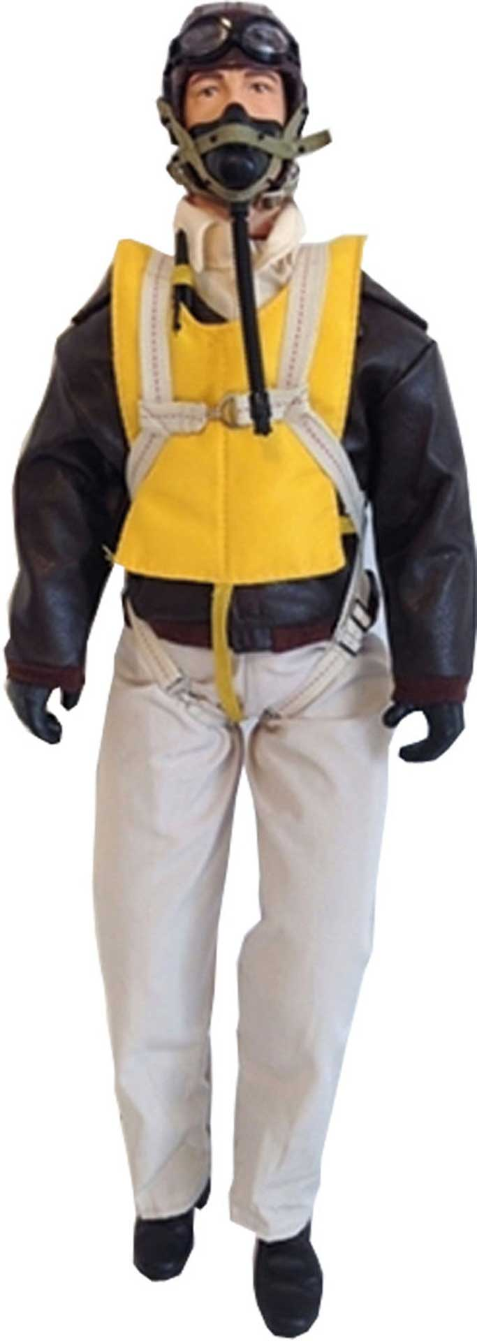 """WARBIRD PILOTS WWII USAAF 1:4,5-1:4 15"""" WITH HEAD ACTIVATION PILOT"""