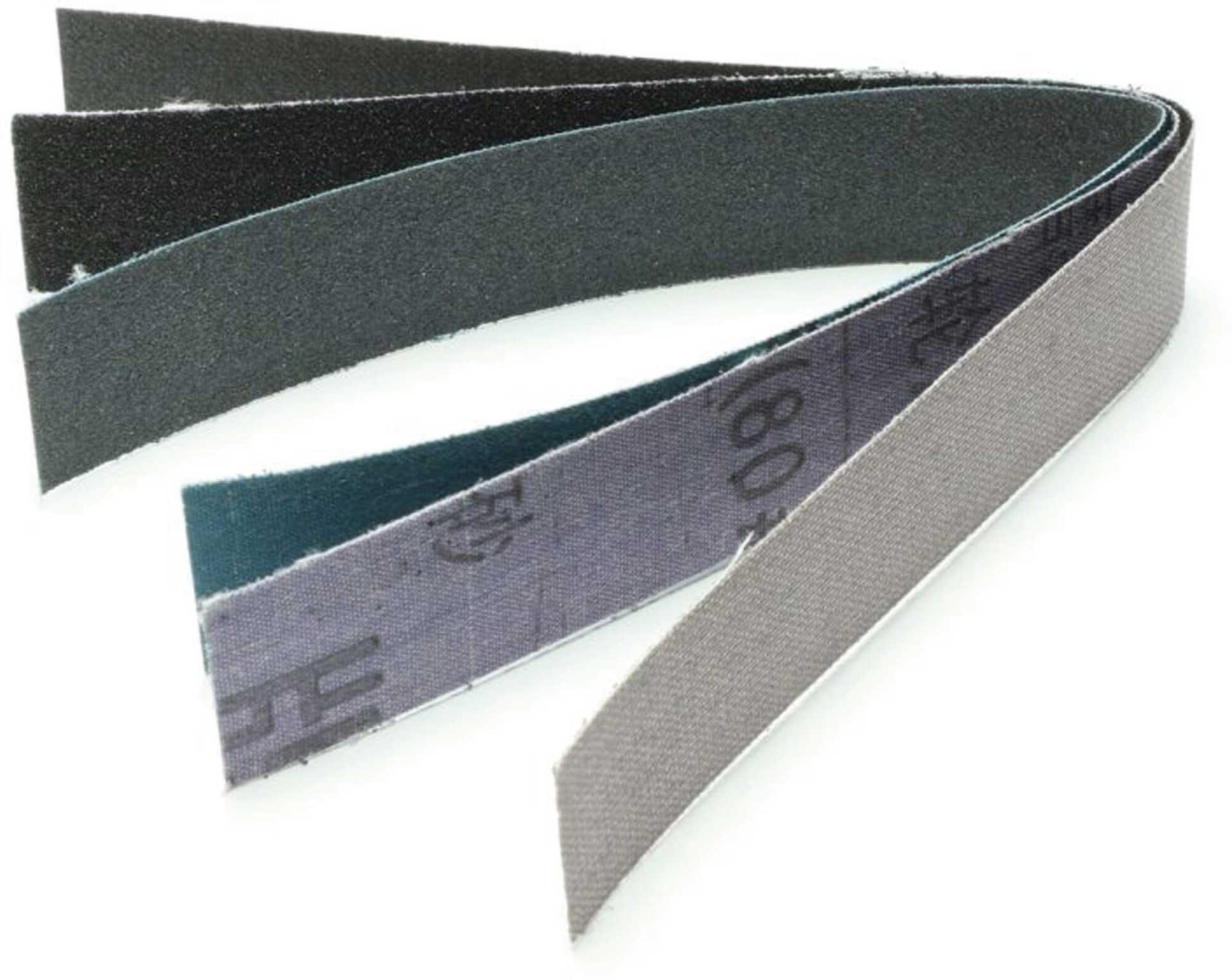 EXTRON Schleifleinen für Sandpapierfeile 25mm 8Stk. sortiert, Sandpapier